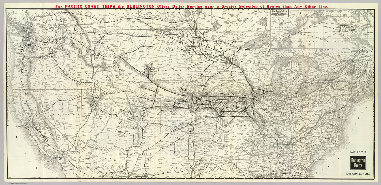Burlington Route USA Map David Rumsey Historical Map Collection - Usa map buy