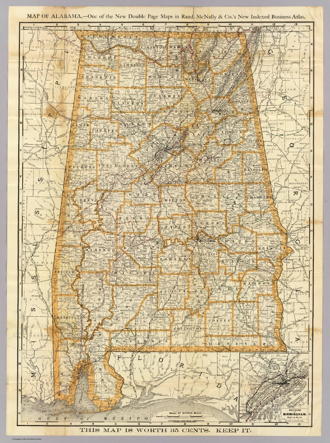 Of Alabama Rand McNally And Company - Maps of alabama