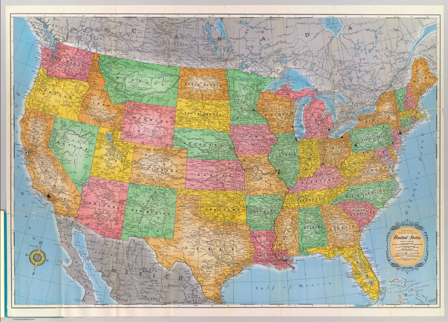 United States David Rumsey Historical Map Collection - Us road map company