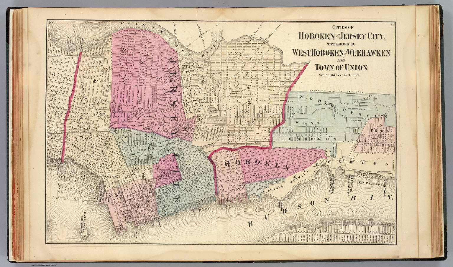 Hoboken Jersey City David Rumsey Historical Map Collection - Map of jersey city