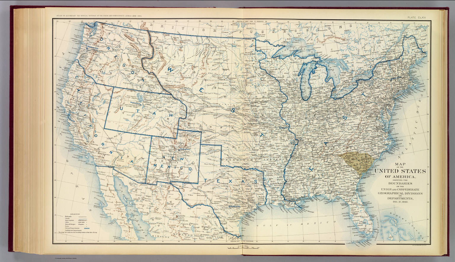 USA Dec David Rumsey Historical Map Collection - 1860 us map