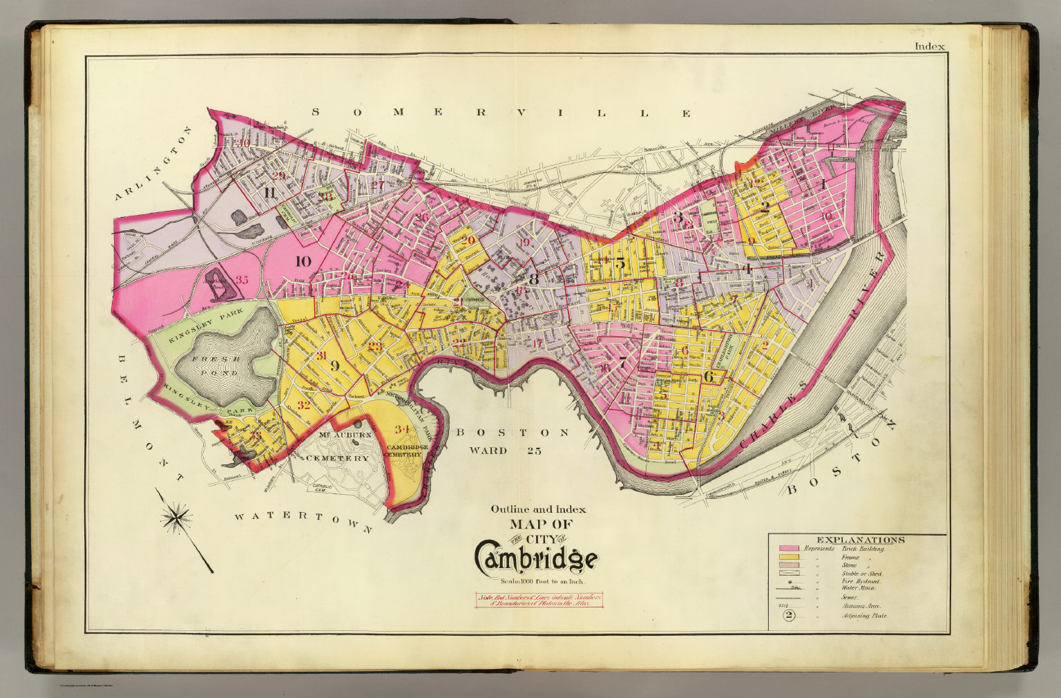 Index Map Cambridge David Rumsey Historical Map Collection - Historical outline map