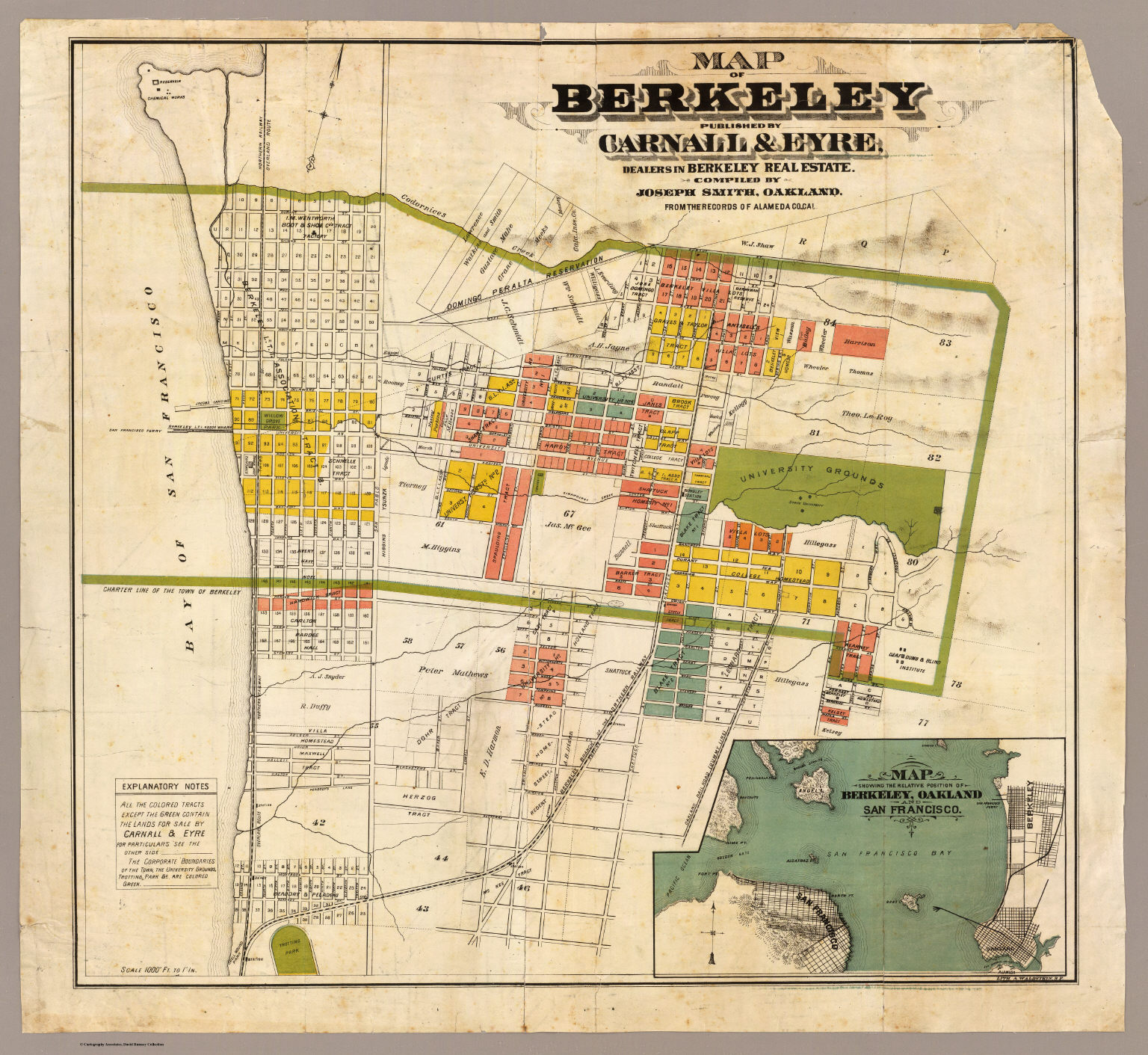 Map Of Berkeley Map of Berkeley. / Smith, Joseph, draftsman / 1880 Map Of Berkeley