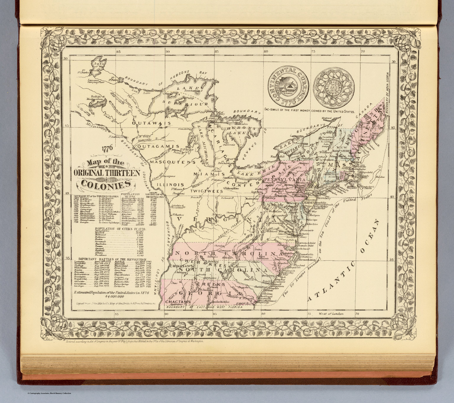 13 colonies 1776  David Rumsey Historical Map Collection