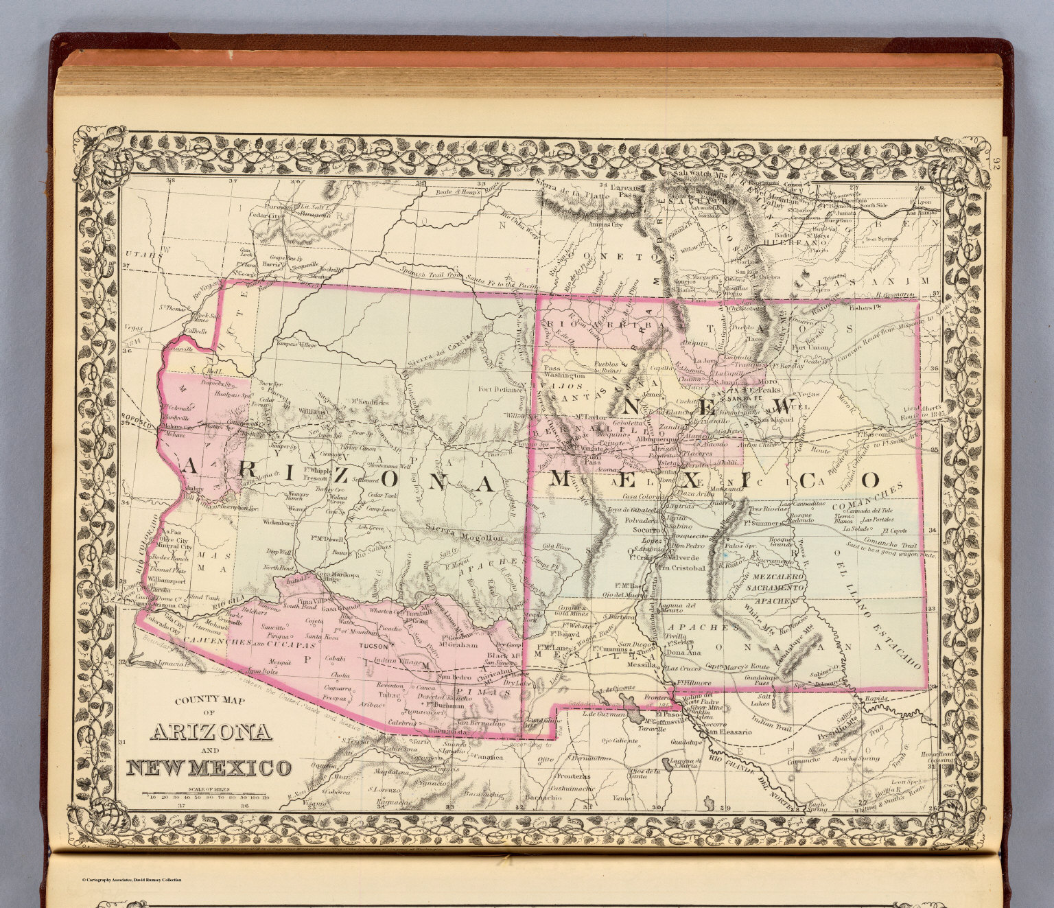 Arizona New Mexico David Rumsey Historical Map Collection - Map of arizona and new mexico