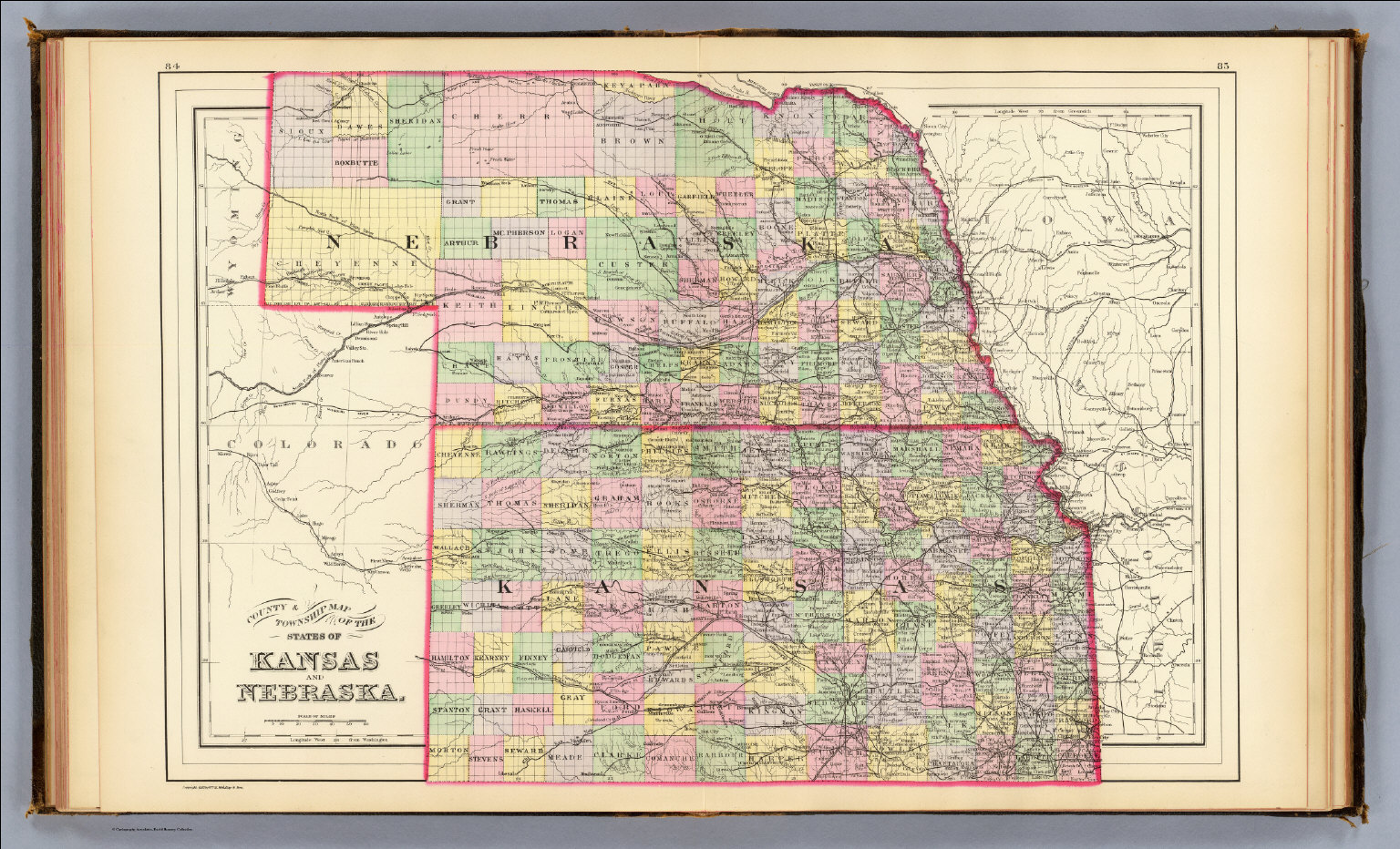 Kansas Nebraska David Rumsey Historical Map Collection - Nebr map