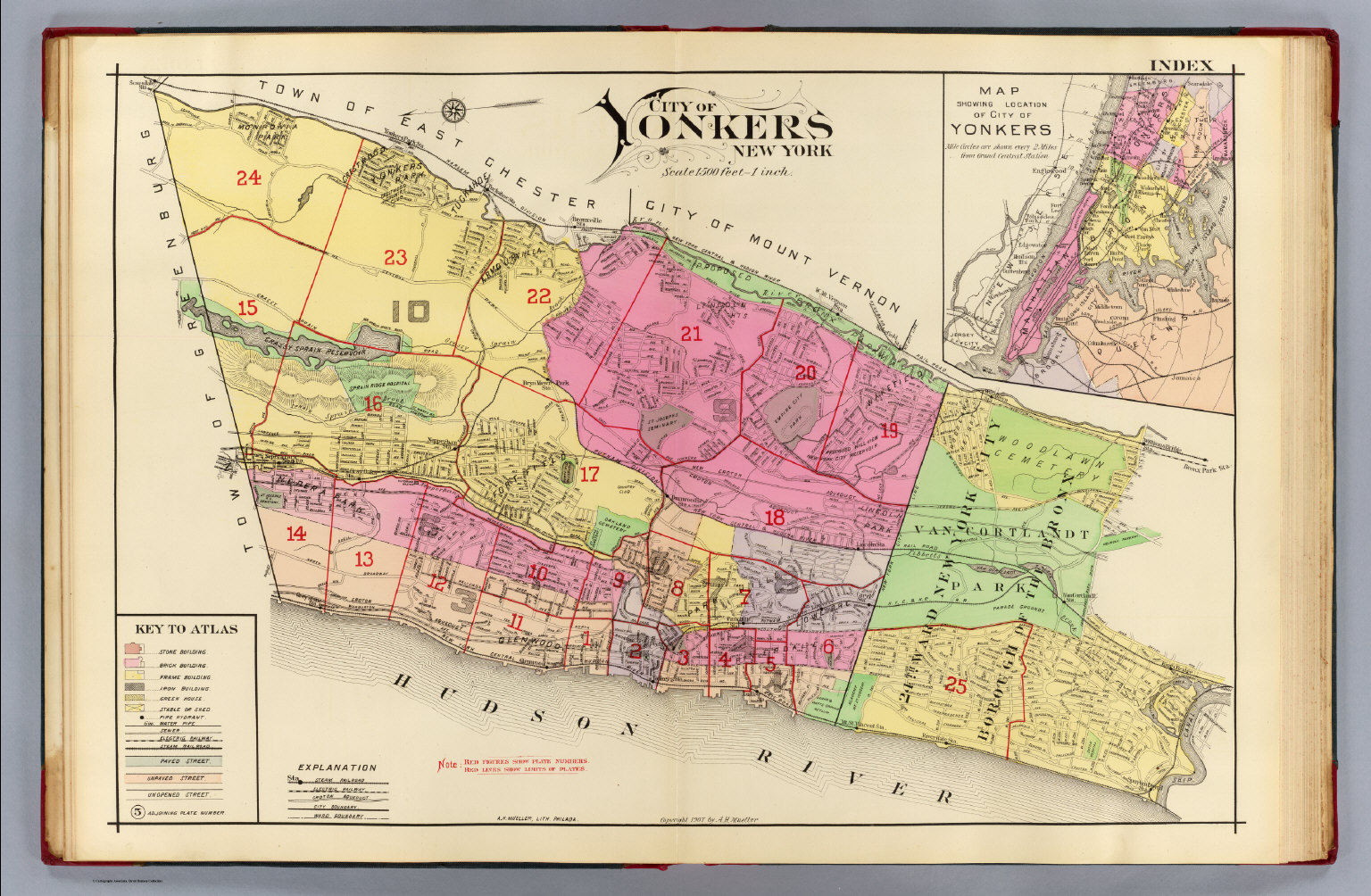index map yonkers atlas david rumsey historical map collection