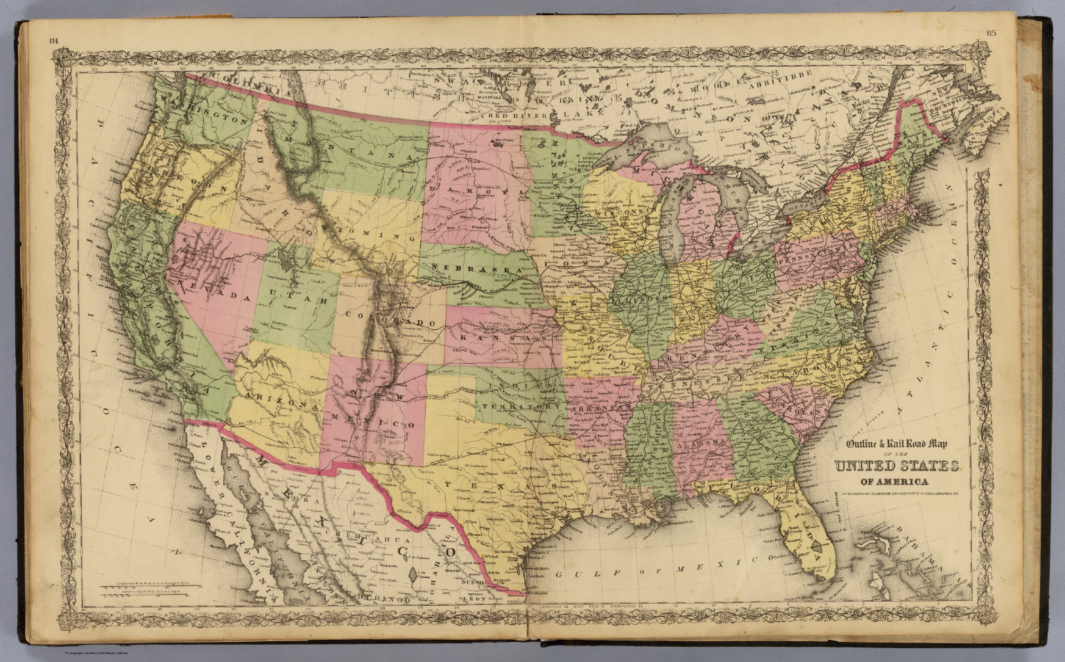 United States David Rumsey Historical Map Collection - Us map 1869