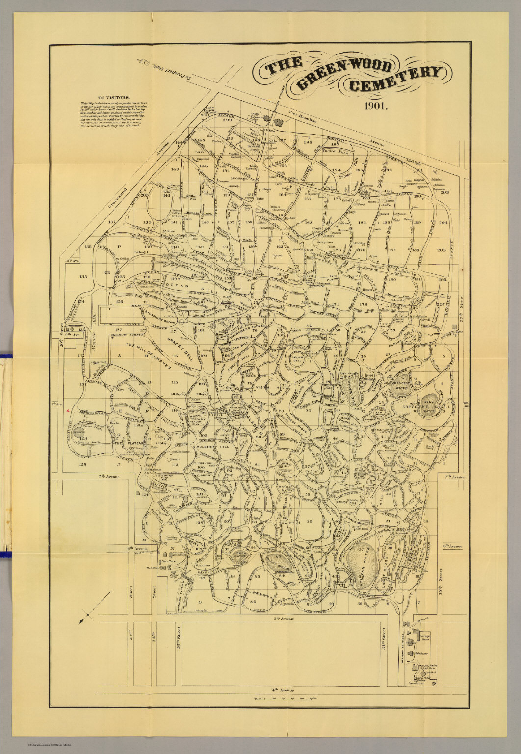 greenwood cemetery  david rumsey historical map collection - greenwood cemetery