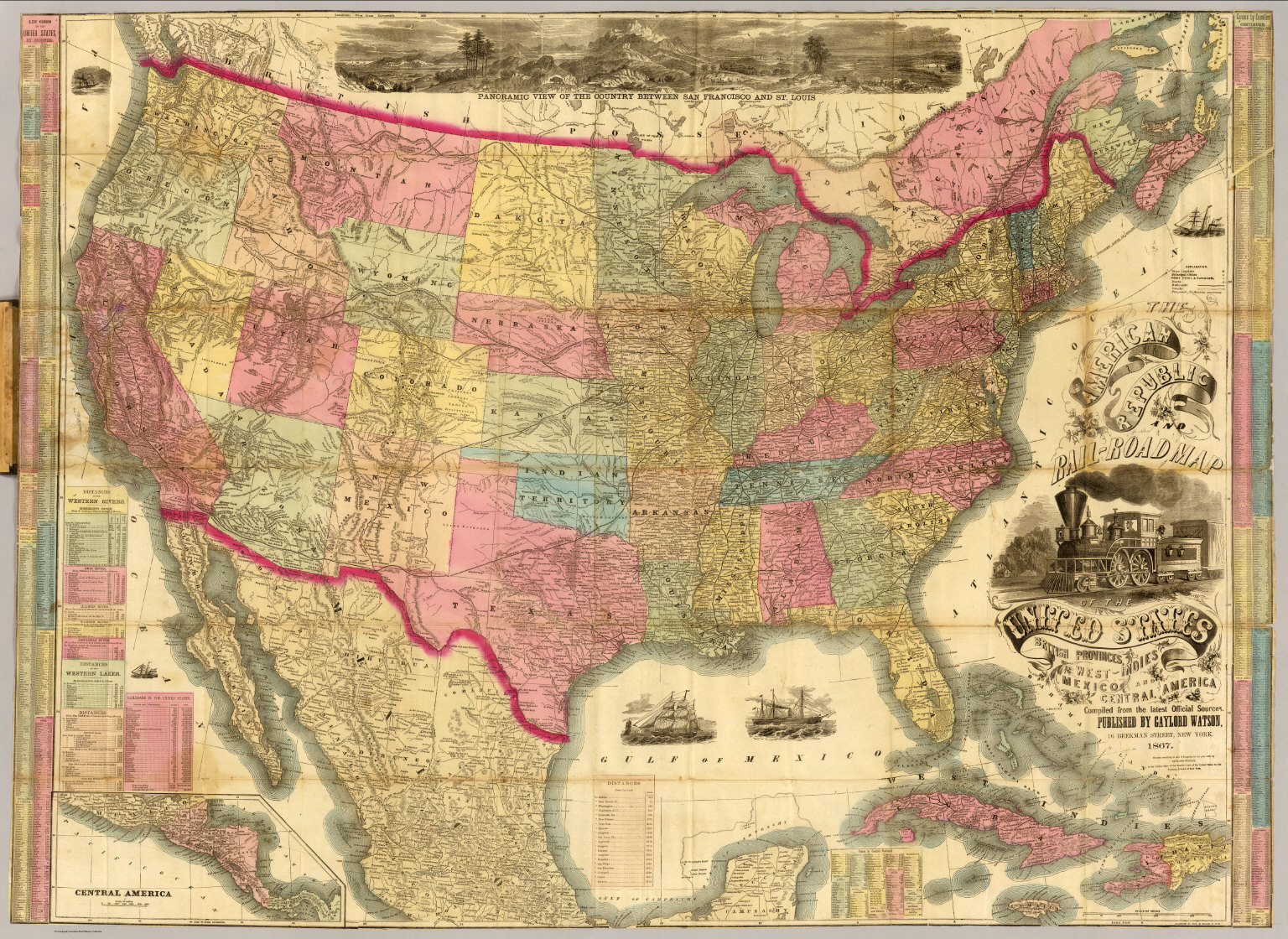 The American Republic and railroad map of the United States