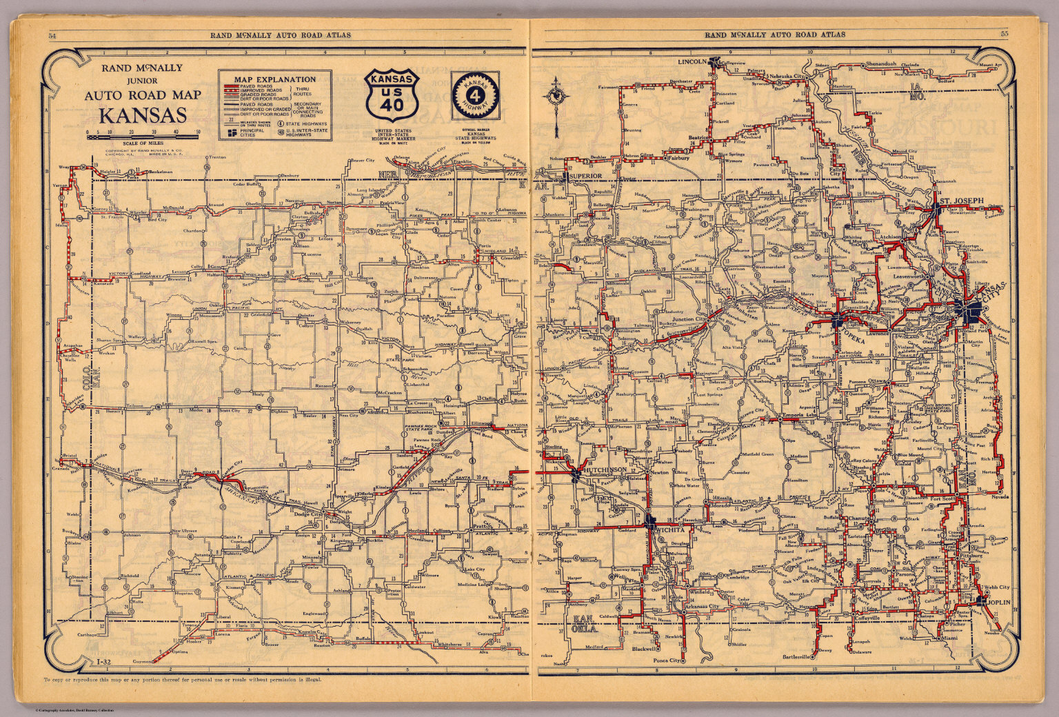 Kansas David Rumsey Historical Map Collection - Road map of kansas