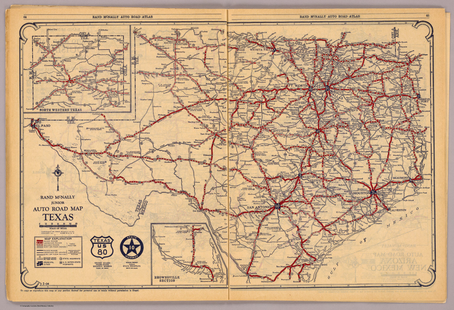 Texas David Rumsey Historical Map Collection - Road maps of texas