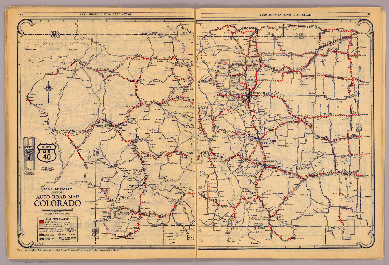 Colorado David Rumsey Historical Map Collection - Colorado road map