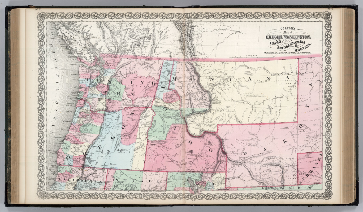 The State Of Oregon And Washington Territory David Rumsey - Map of oregon and washington