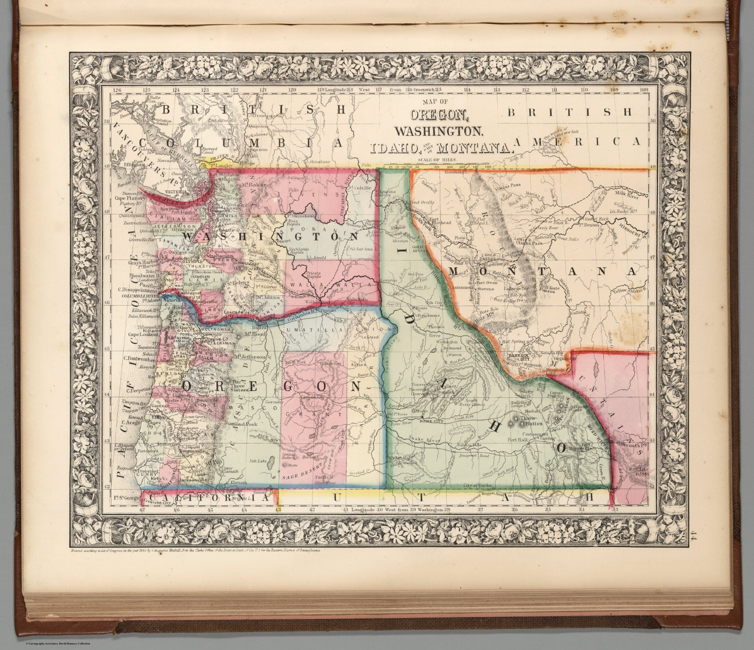 Map Of Oregon Washington Idaho And Part Of Montana David - Montana blank physical map