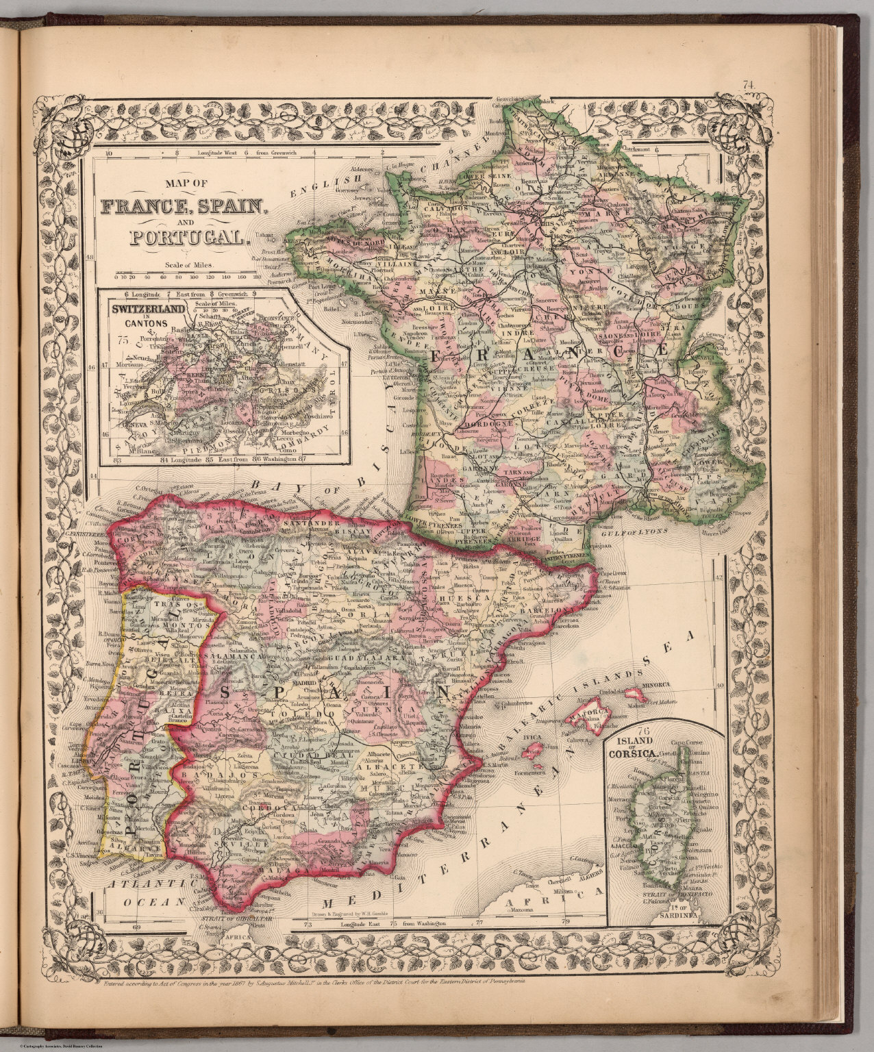 Map Of France Spain And Portugal David Rumsey Historical Map - Spain historical map