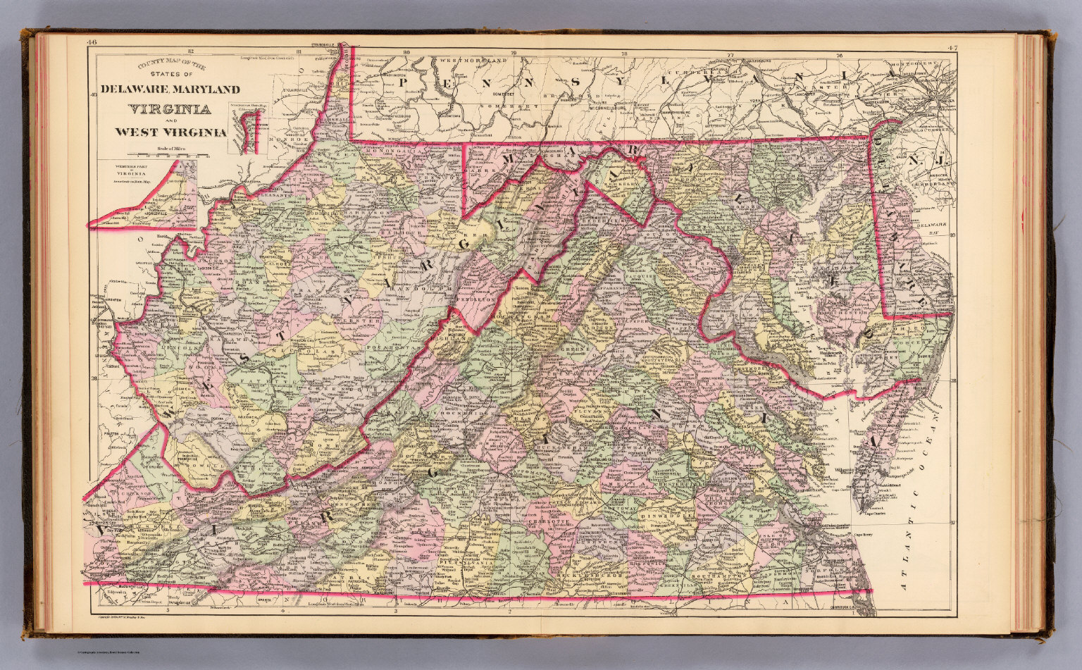Del Md Va W Va David Rumsey Historical Map Collection - W virginia map