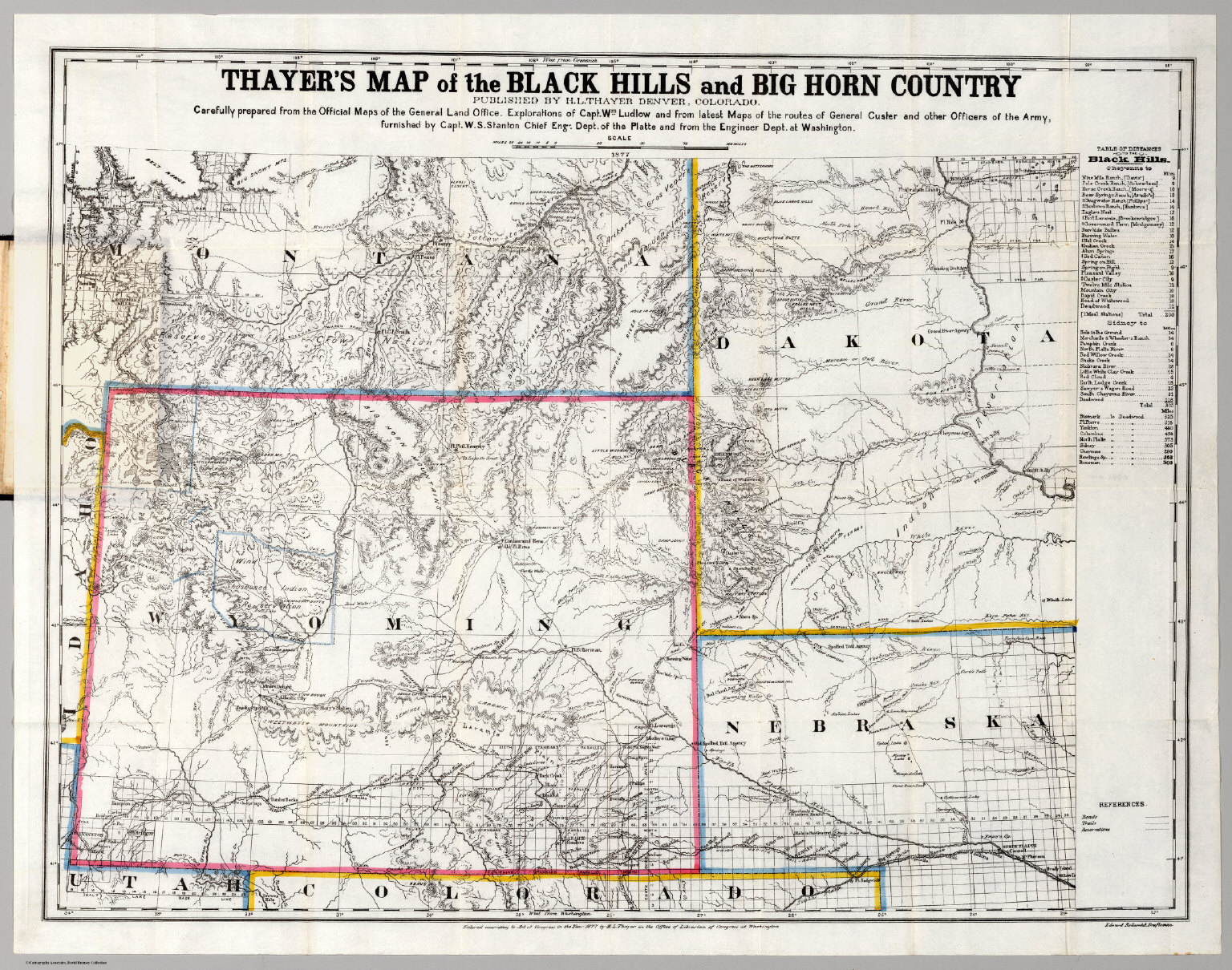Map of the Black Hills  Big Horn Country  David Rumsey