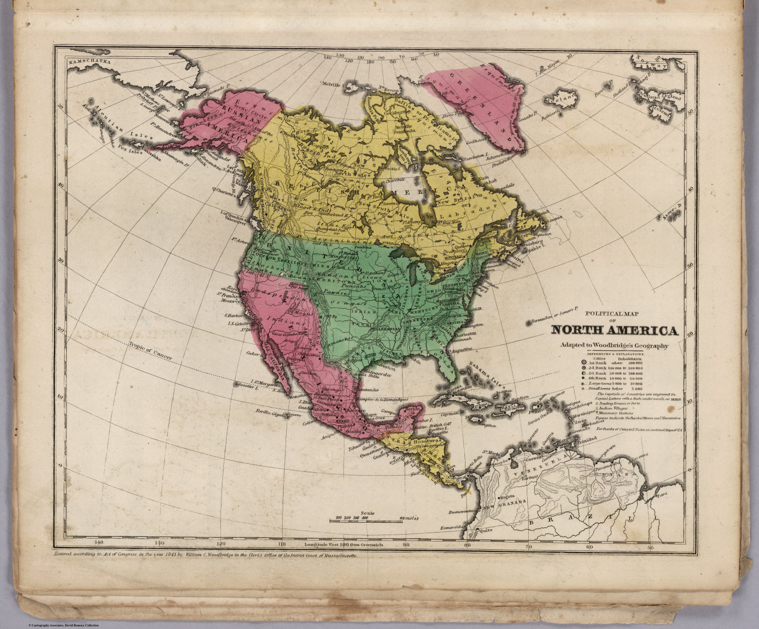 Political Map Of North America David Rumsey Historical Map - North america historical map 1845