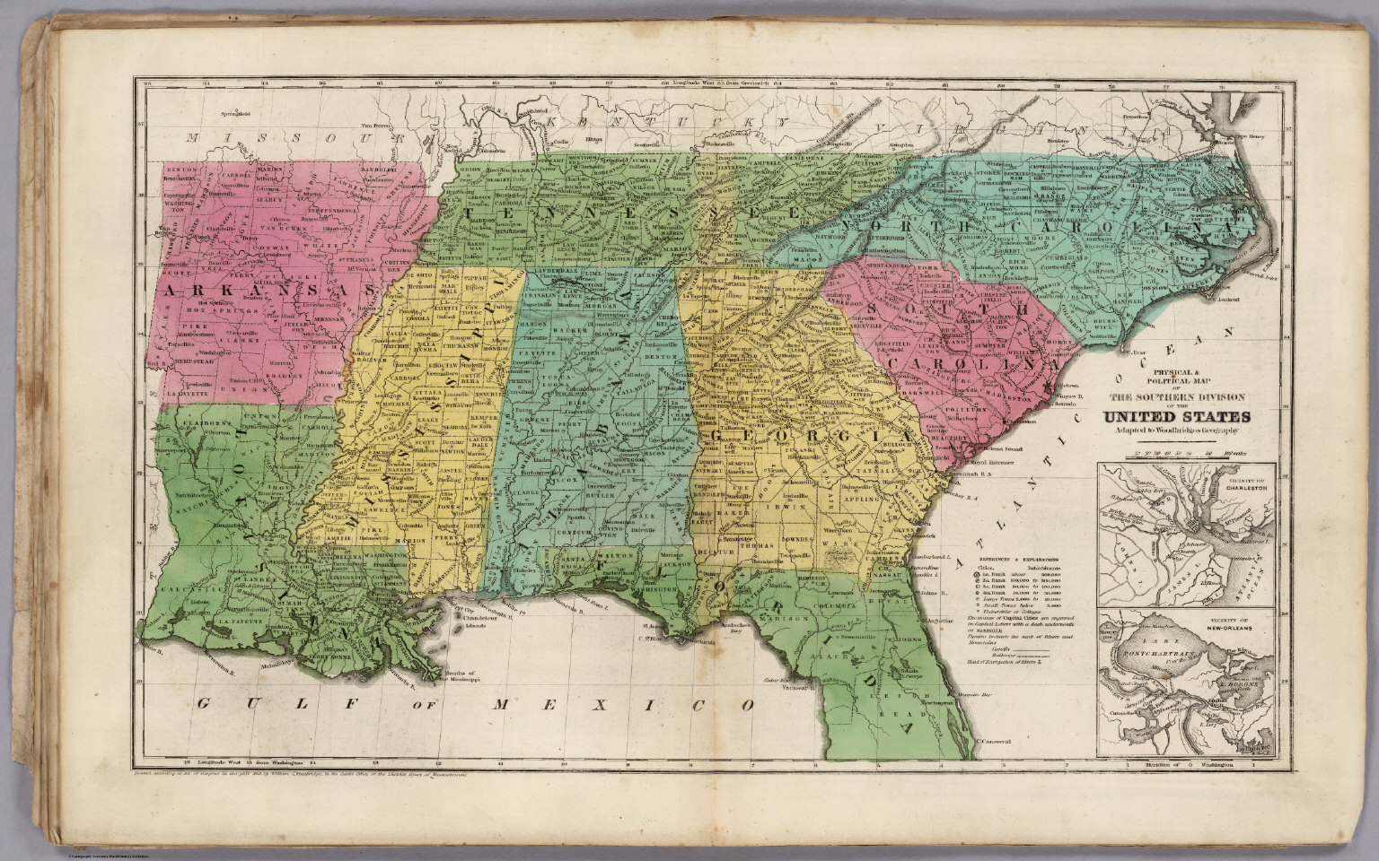 Political Map Of The Southern Division Of The United States - Map of southern us