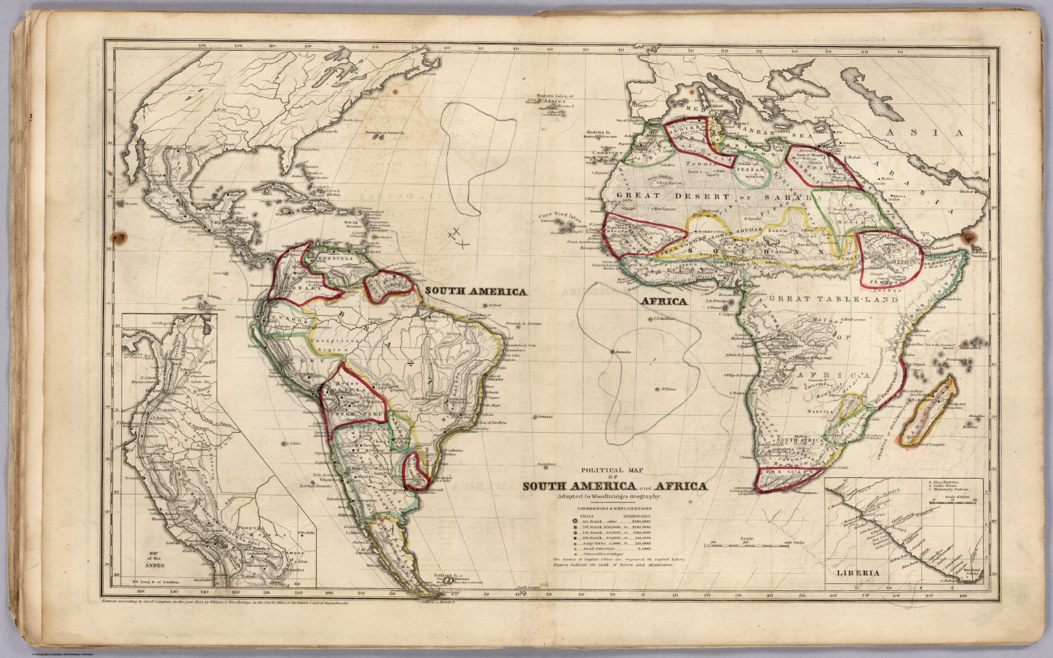 Political Map Of South America And Africa  David Rumsey