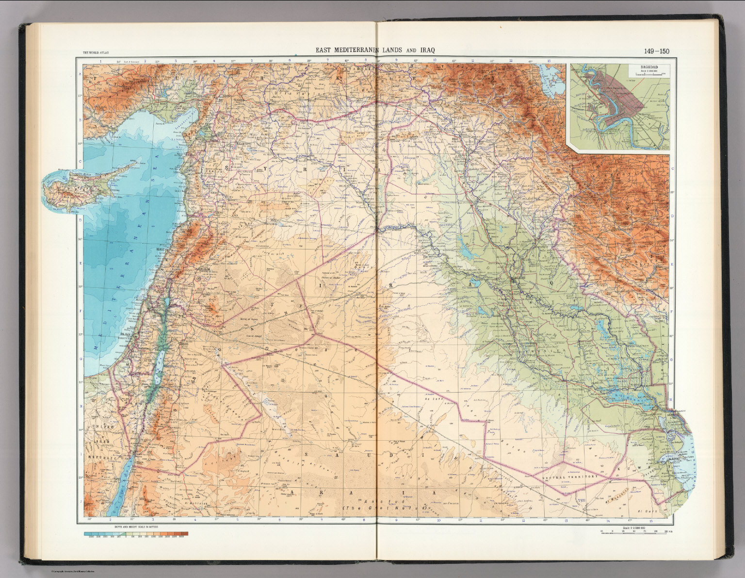 East Mediterranean Lands And Iraq Baghdad The World - Baghdad map world