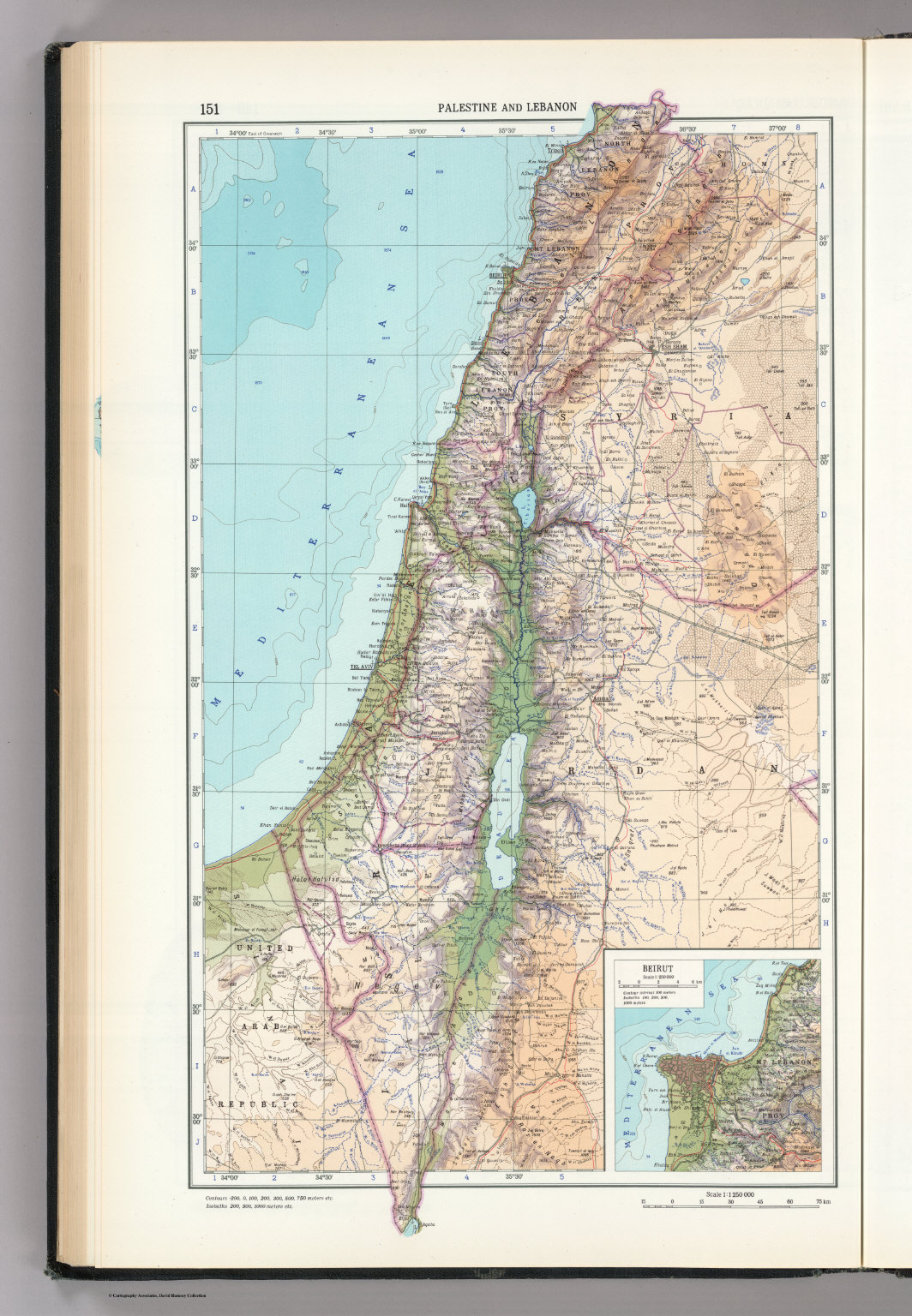 151 palestine and lebanon the world atlas david rumsey palestine and lebanon the world atlas gumiabroncs Images