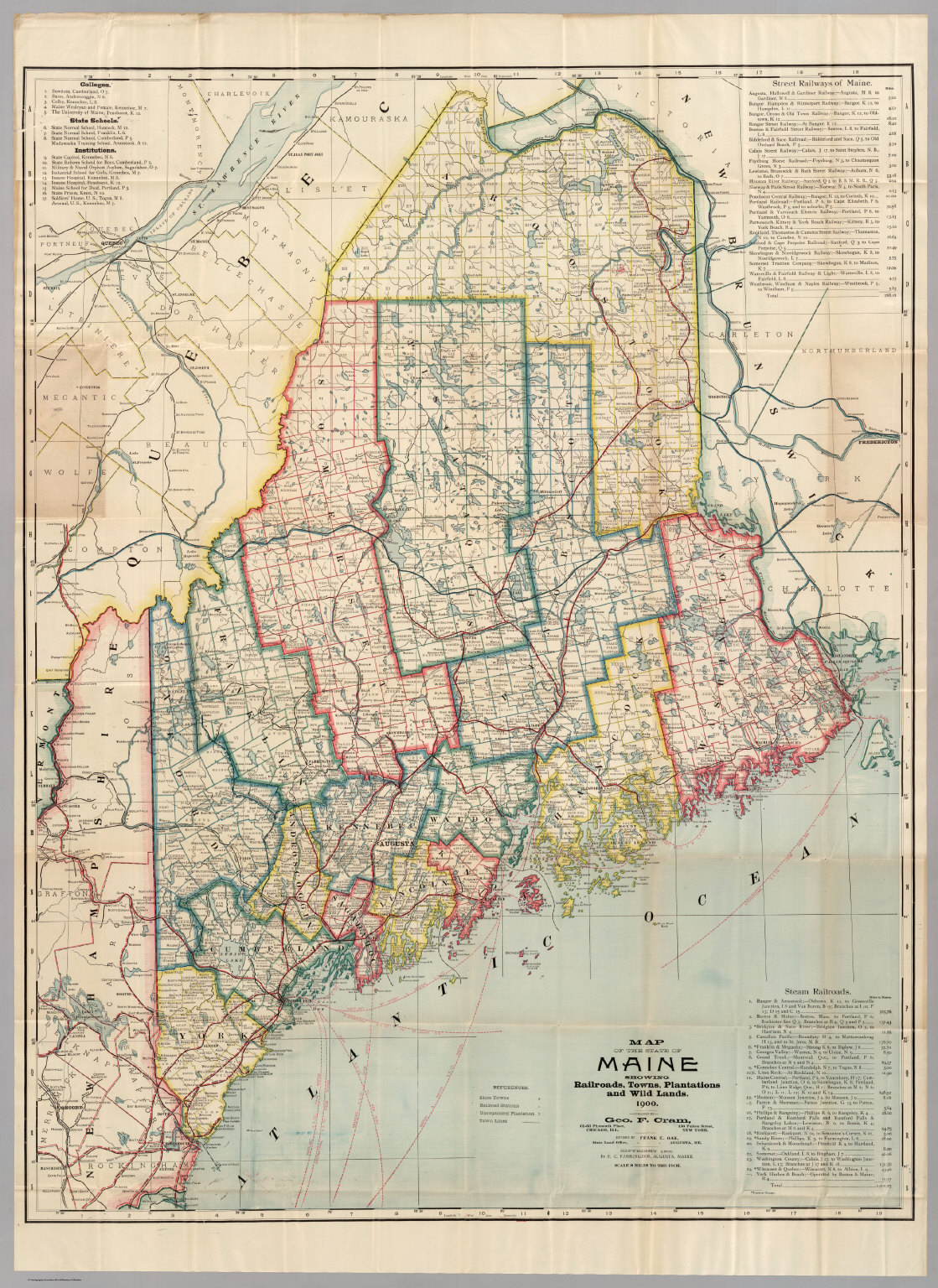 Map Of Maine David Rumsey Historical Map Collection - Maine towns map