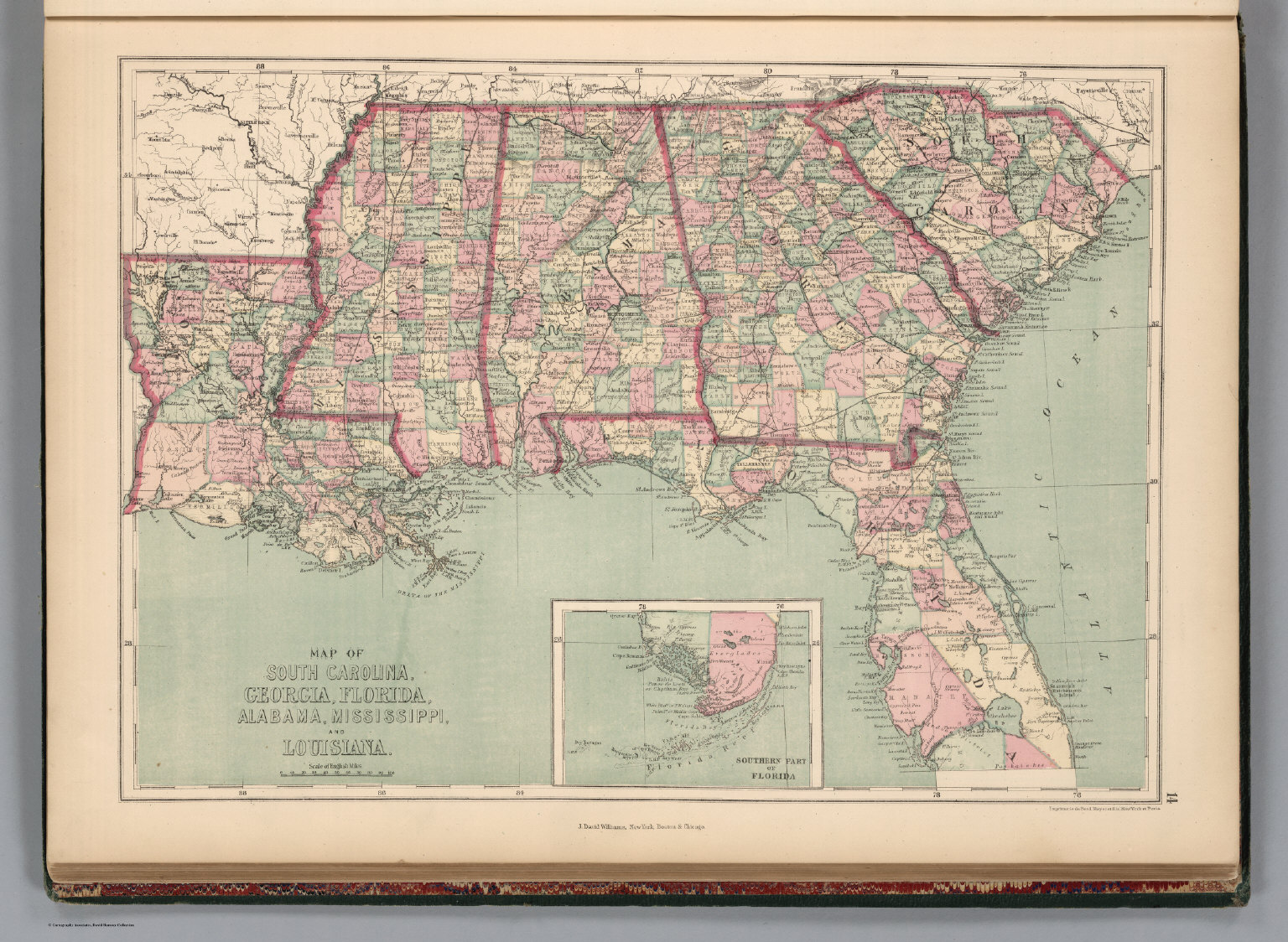 South Carolina Georgia Florida Alabama Mississippi And - Map of alabama and florida