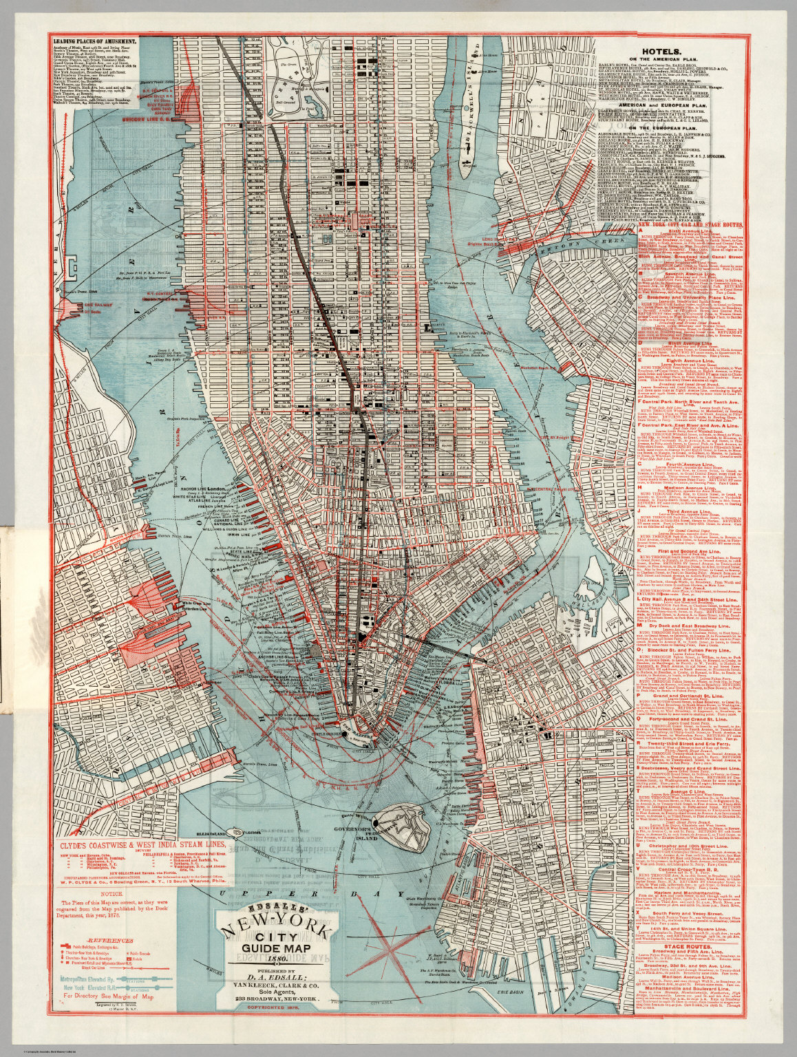 NewYork City Guide Map  David Rumsey Historical Map Collection