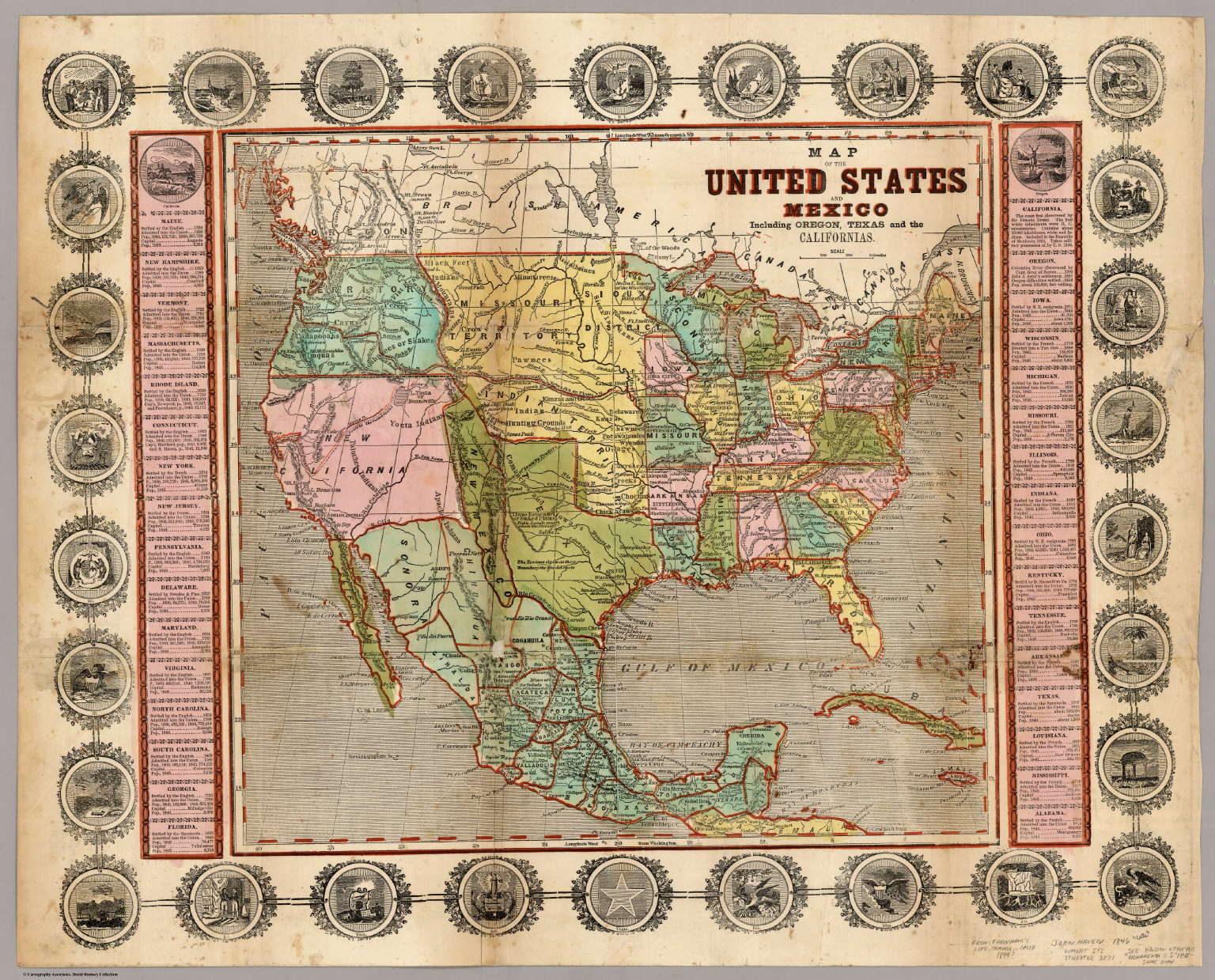Map Of The United States Mexico Oregon Texas The Californias - Us map mexico