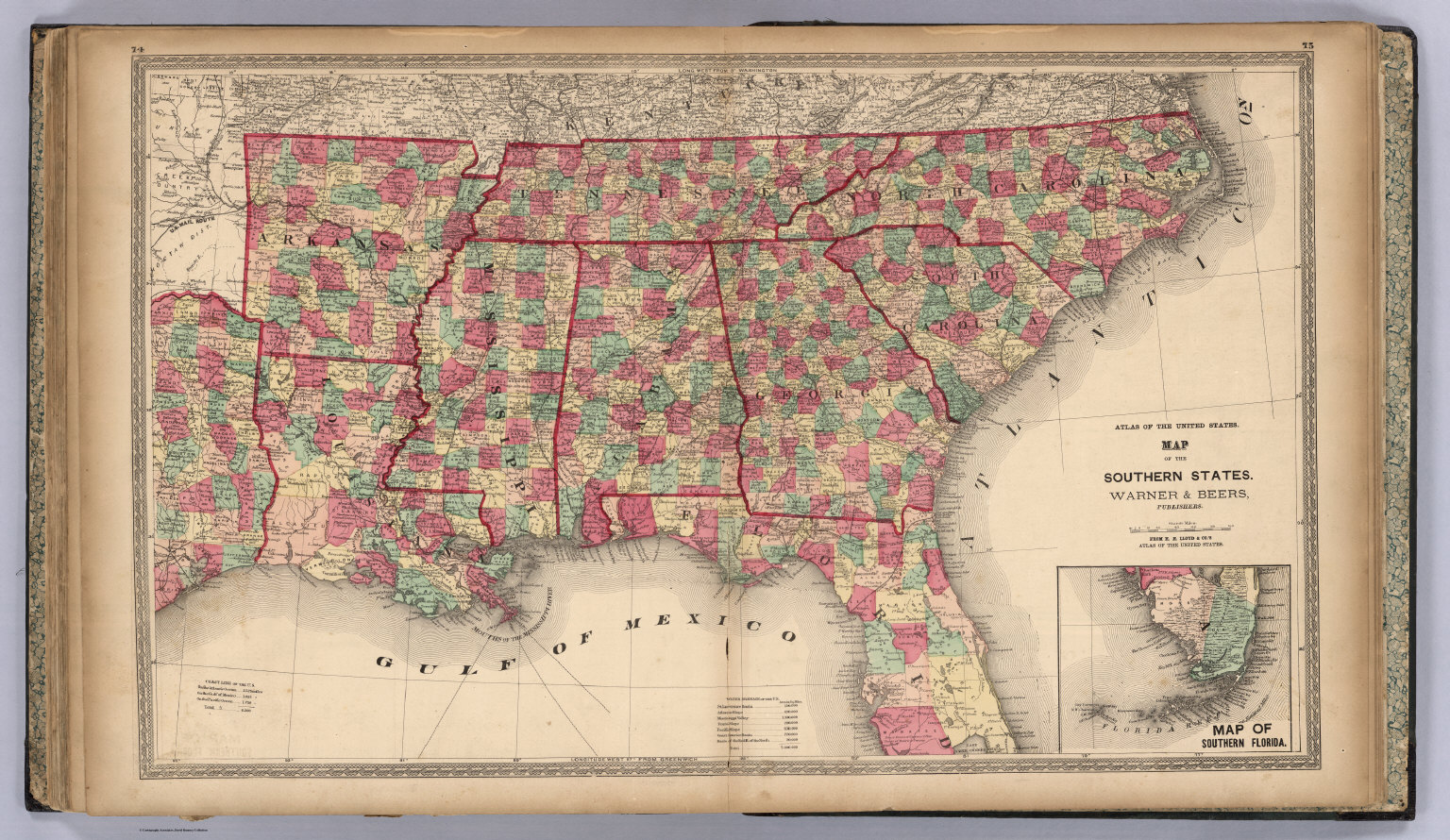 Atlas Of The United States Map Of The Southern States David - Map southern states us