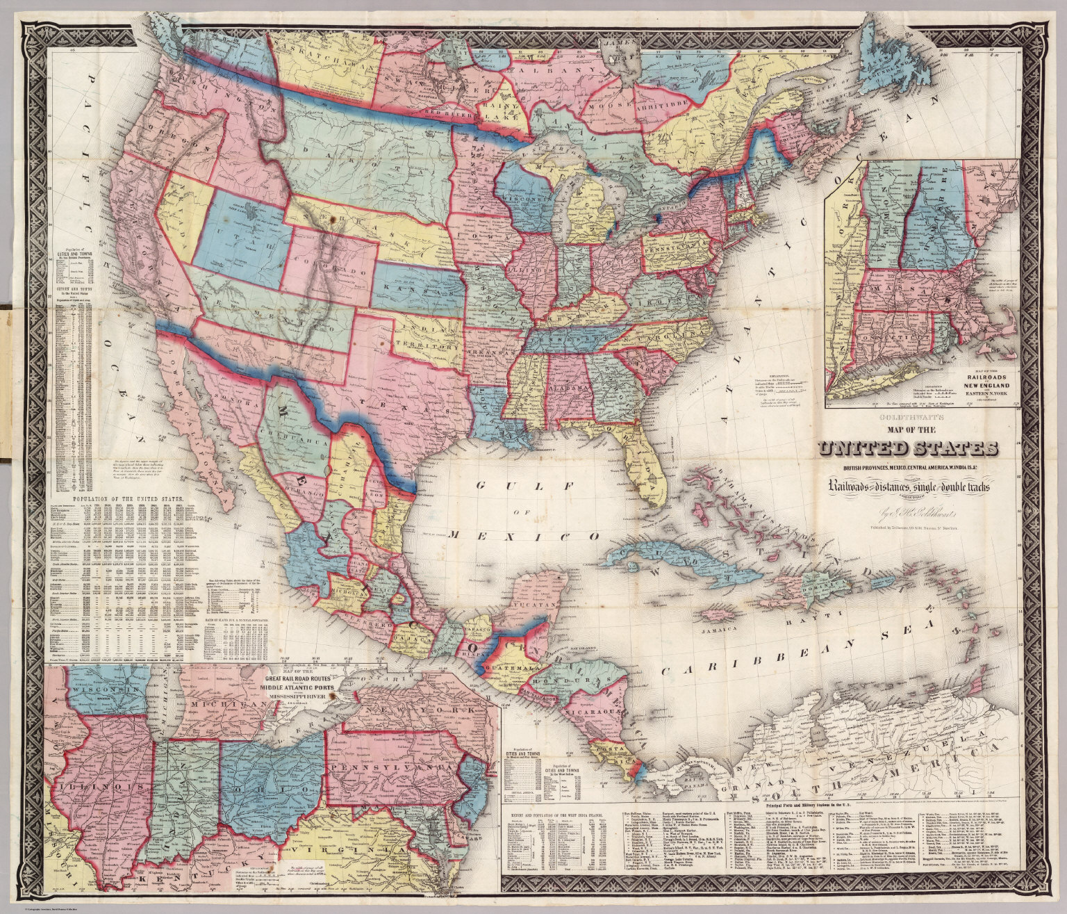 United States David Rumsey Historical Map Collection - Central united states map