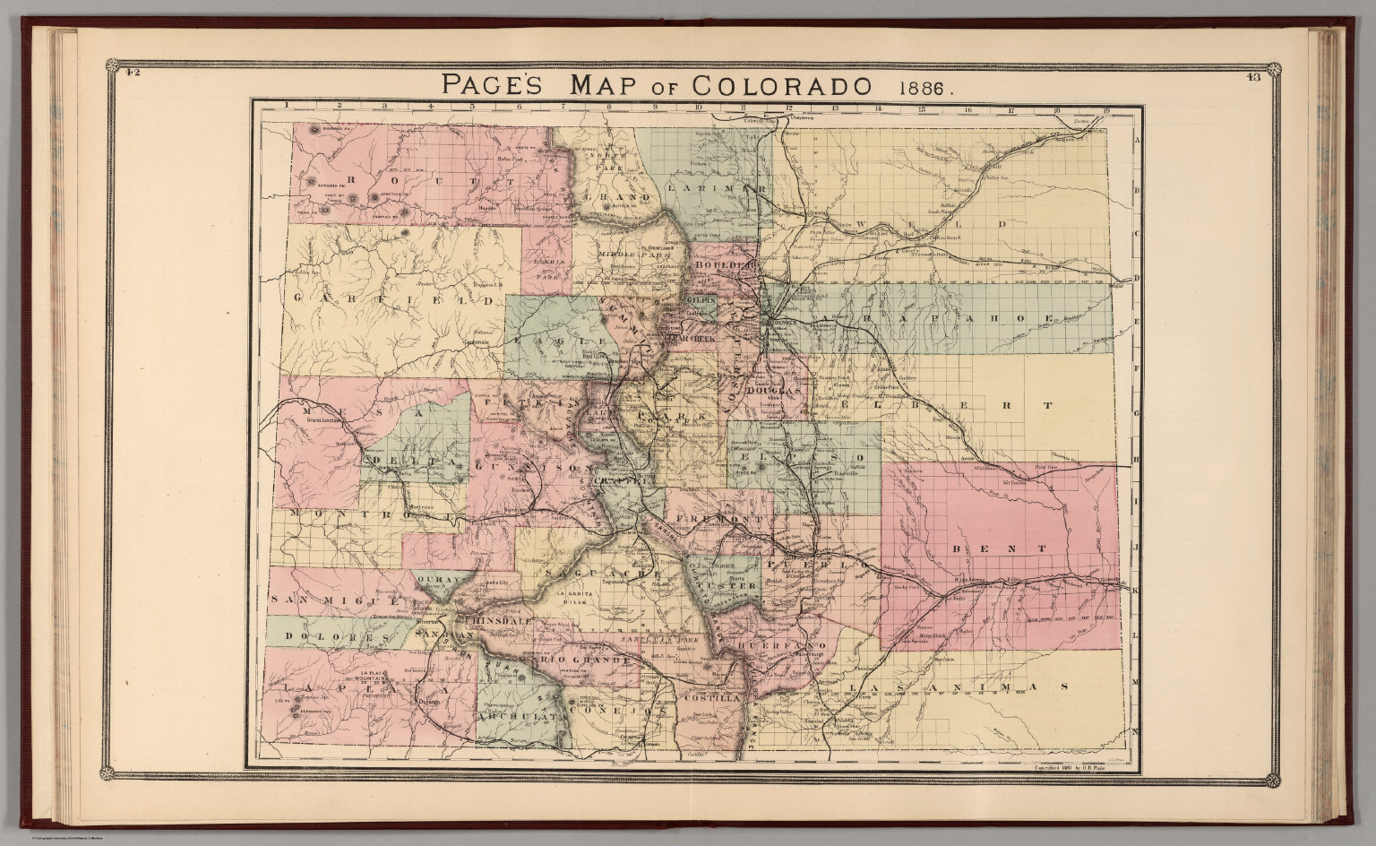 Pages Map Of Colorado David Rumsey Historical Map Collection - Map of colorado