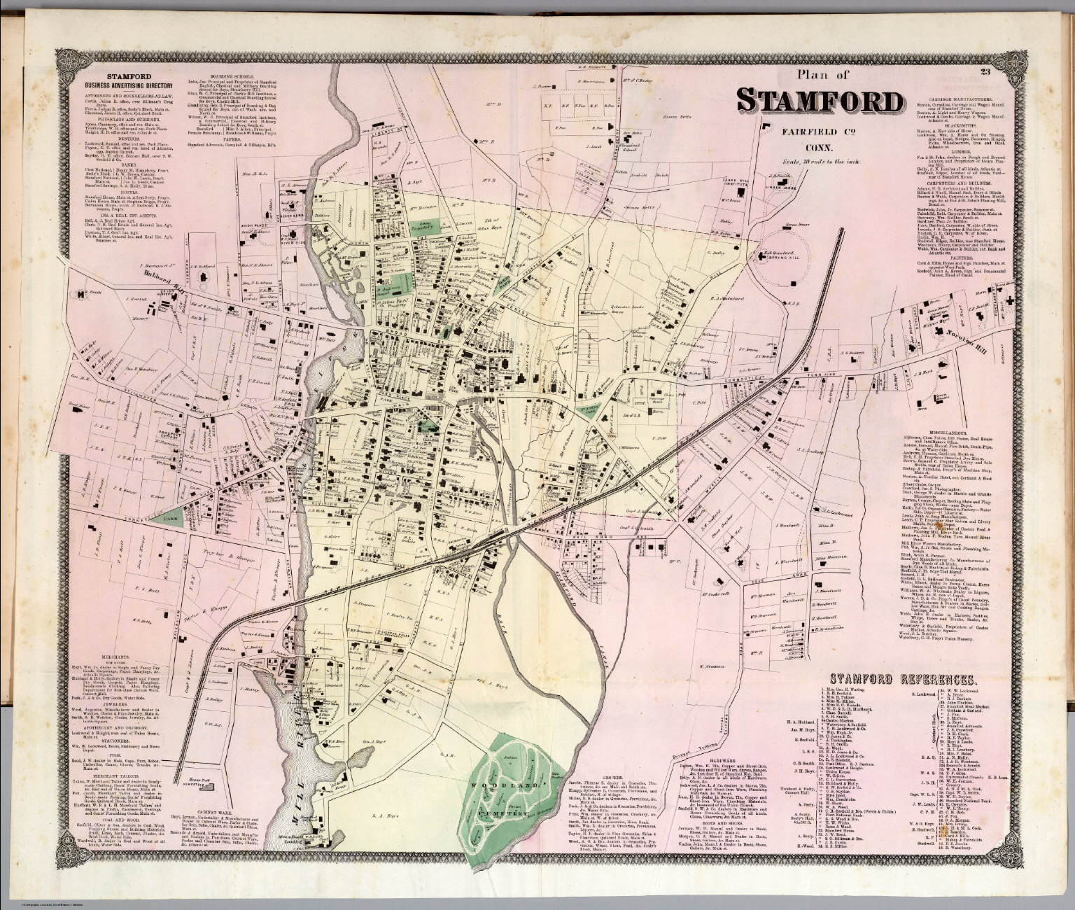 plan of stamford connecticut. plan of stamford connecticut  david rumsey historical map