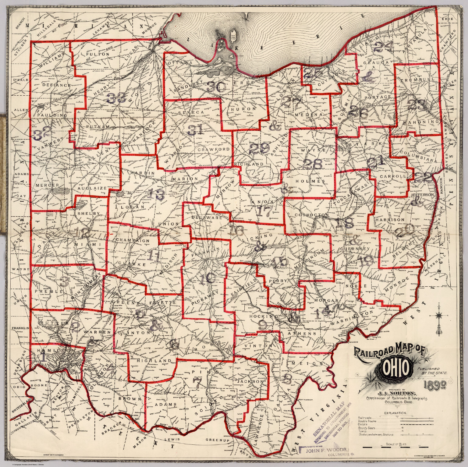 Railroad Map Of Ohio David Rumsey Historical Map Collection - Mapofohio