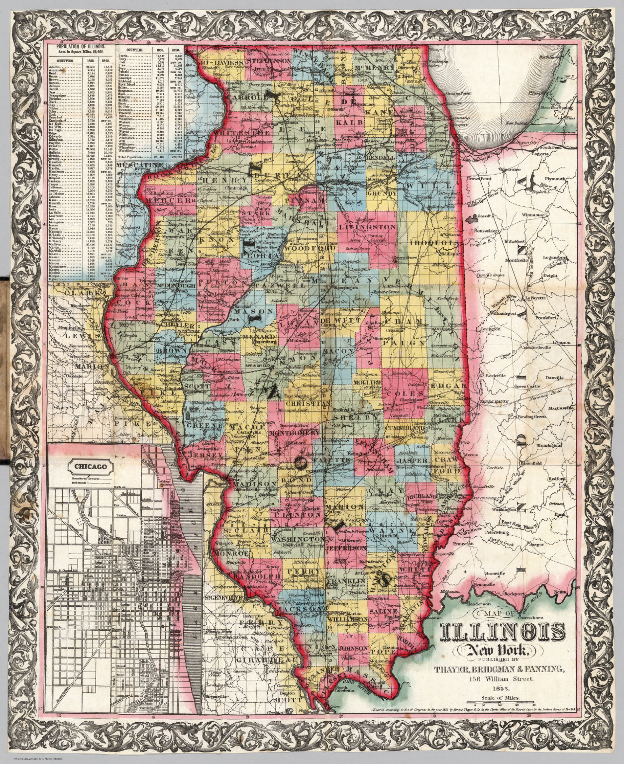 Map Of Illinois David Rumsey Historical Map Collection - Map of illinois