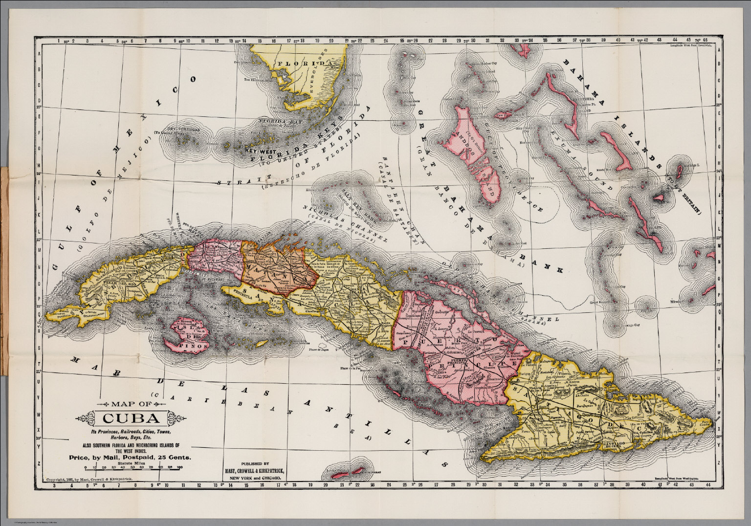 Map And History Of Cuba David Rumsey Historical Map Collection - Cuba provinces map
