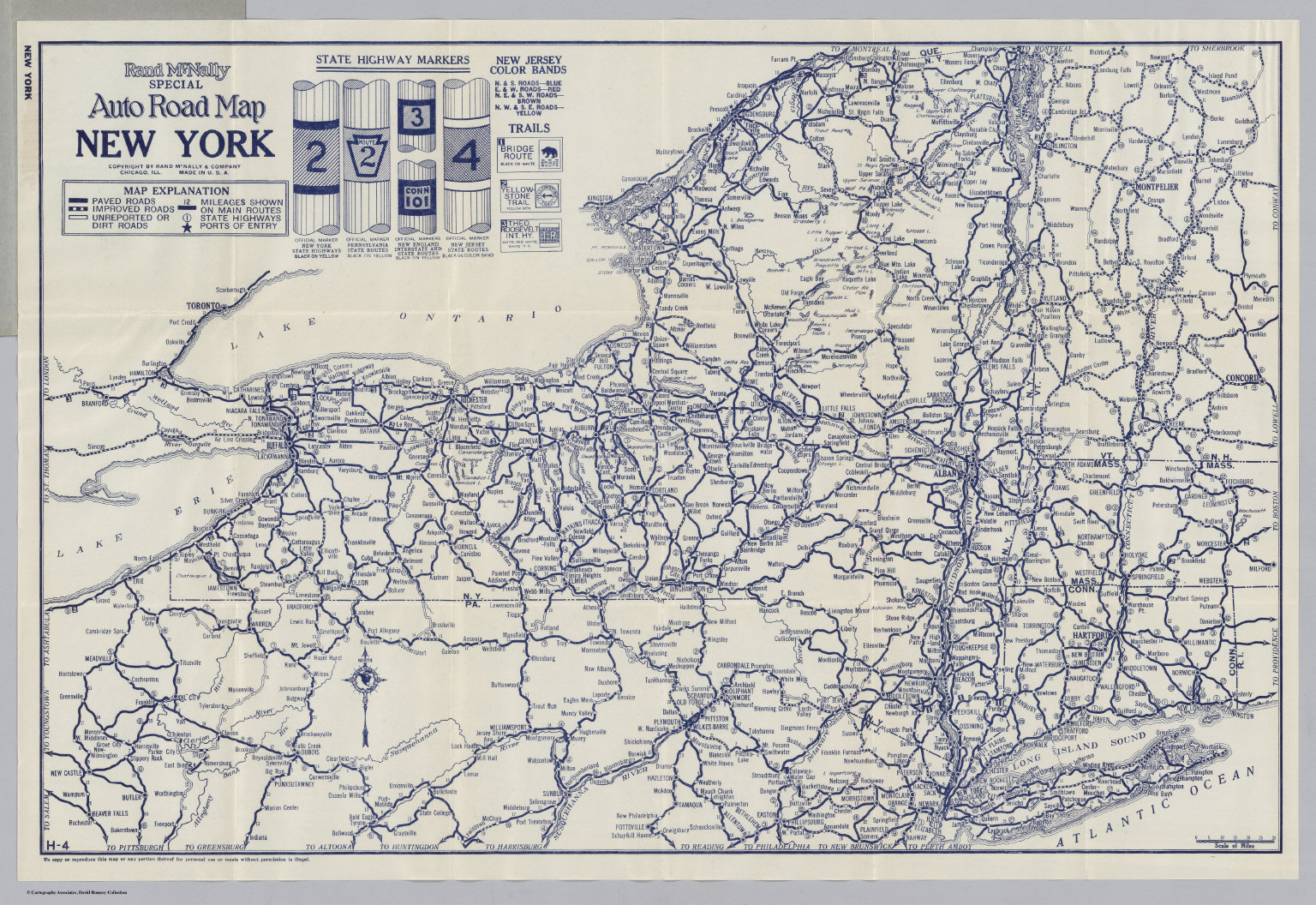 Auto Road Map New York David Rumsey Historical Map Collection - Road map new york state