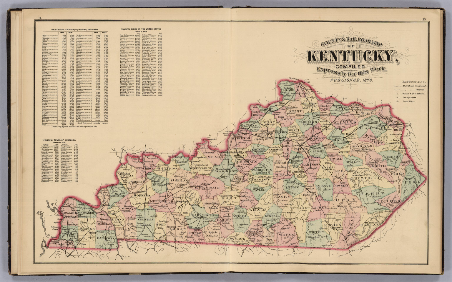 County And Road Map Of Kentucky David Rumsey Historical Map - Road map of kentucky