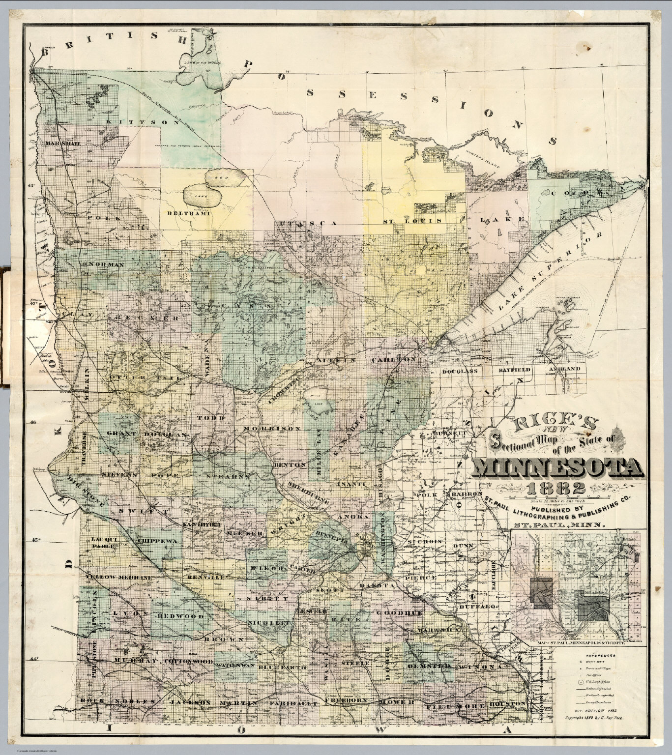 Map Of The State Of Minnesota David Rumsey Historical Map - The map of minnesota