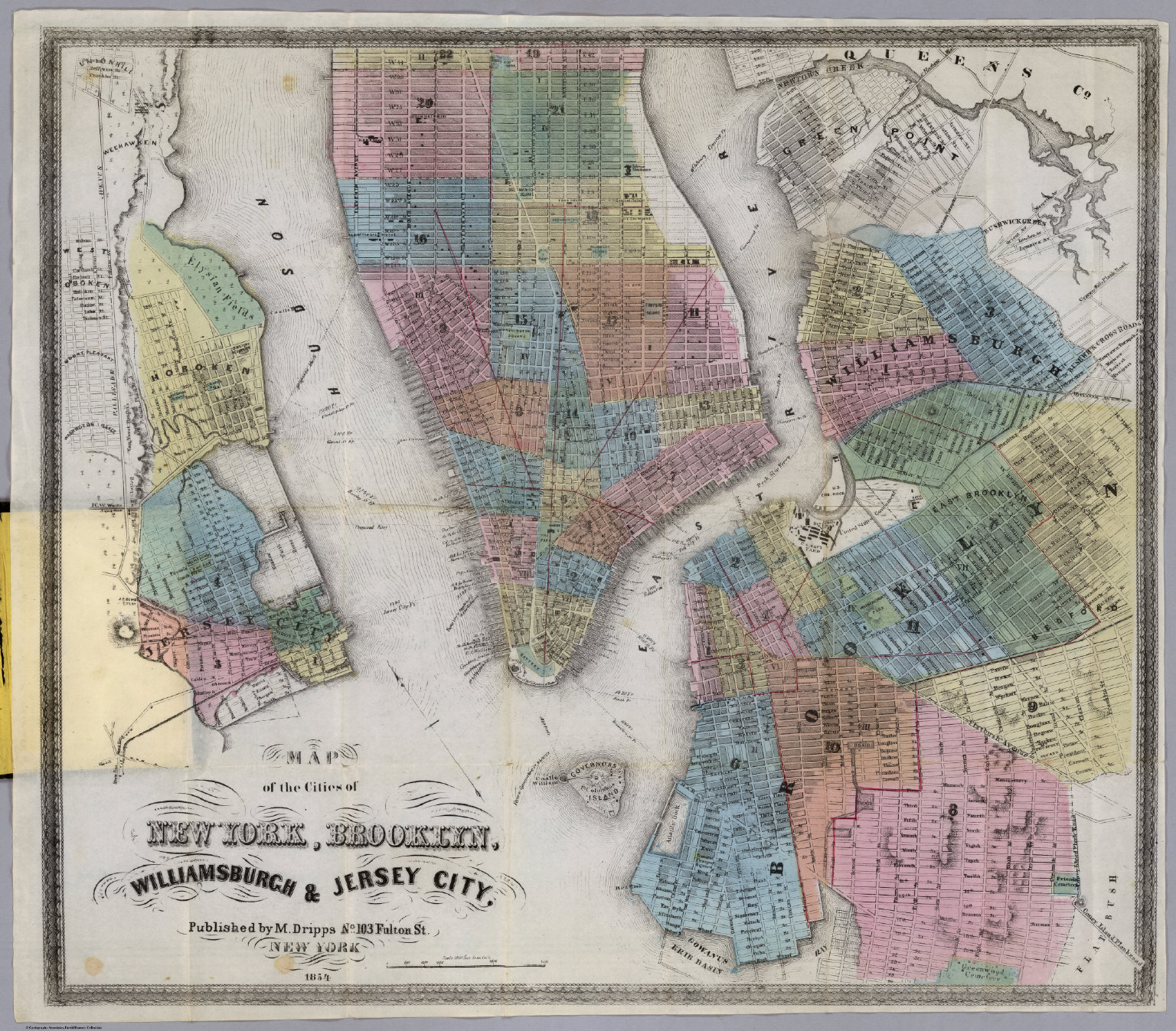 New York Brooklyn Williamsburgh Jersey City David Rumsey - Jersey city map
