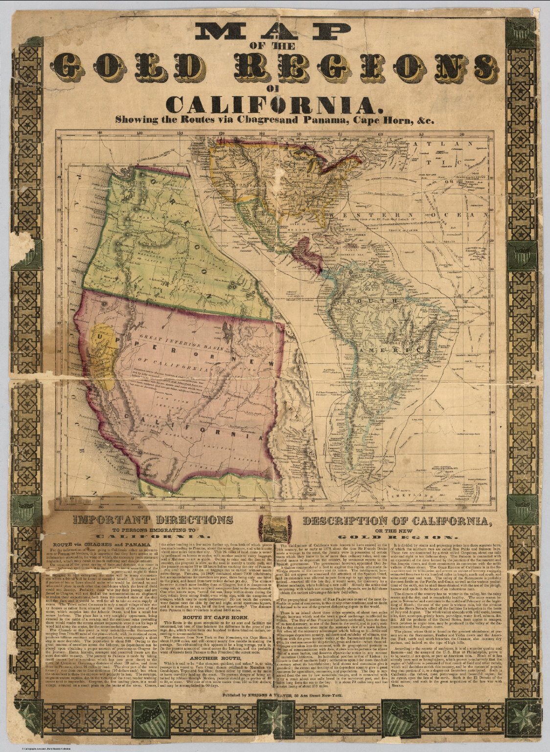 Map Of The Gold Regions Of California David Rumsey Historical - 1848 us map