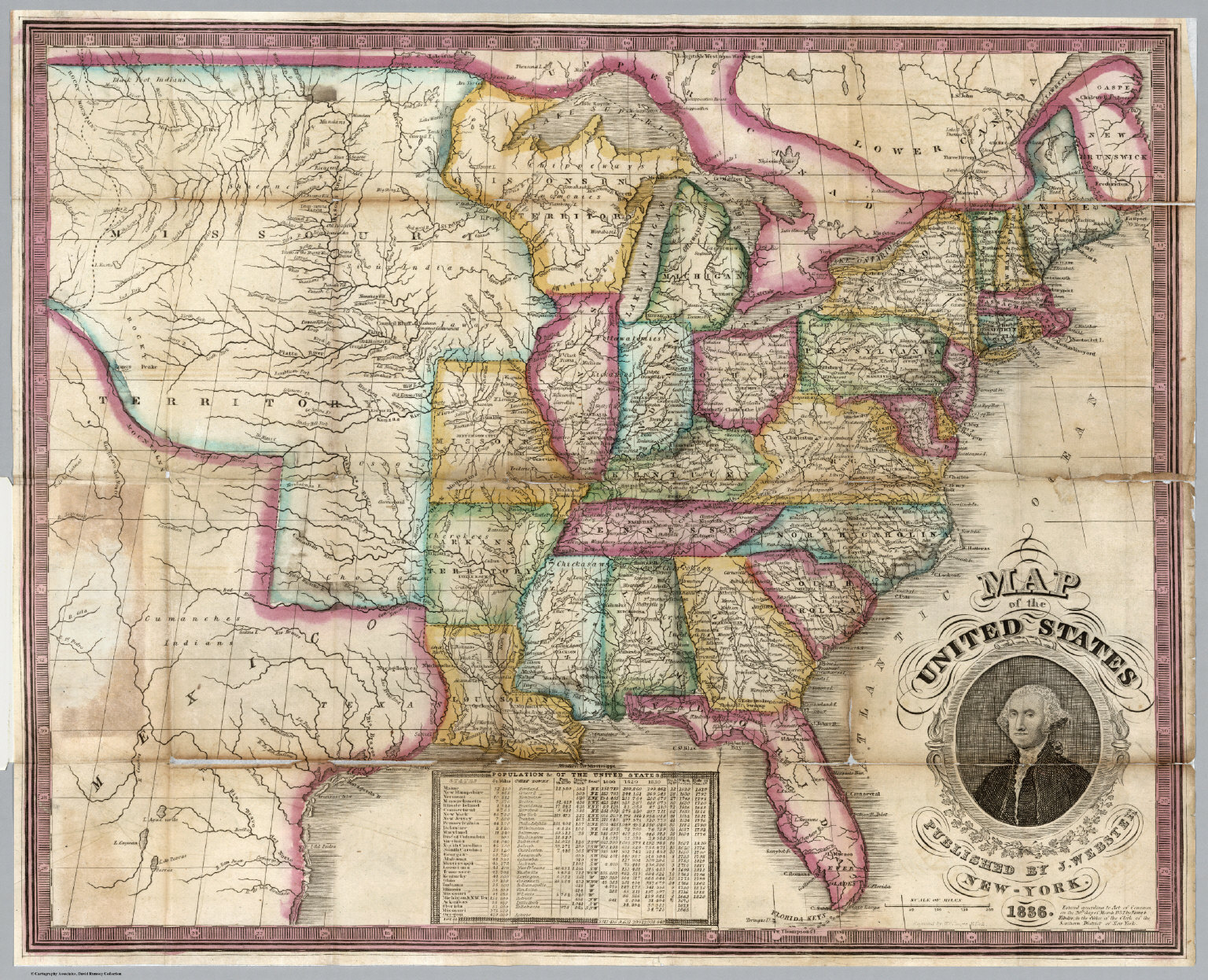 Map Of The United States David Rumsey Historical Map Collection - 1836 us map