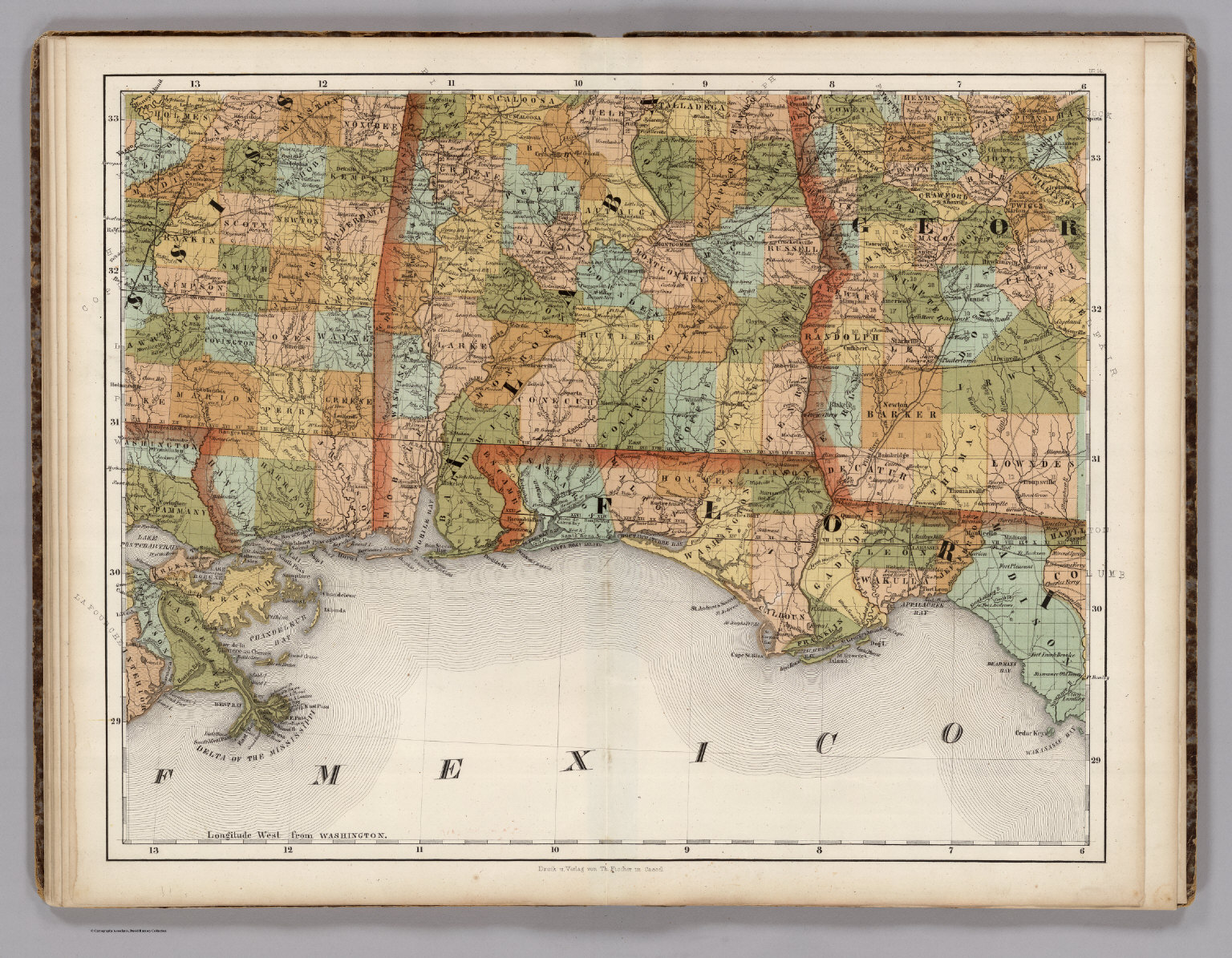 Mississippi Alabama Florida Georgia David Rumsey Historical - Map of alabama and florida