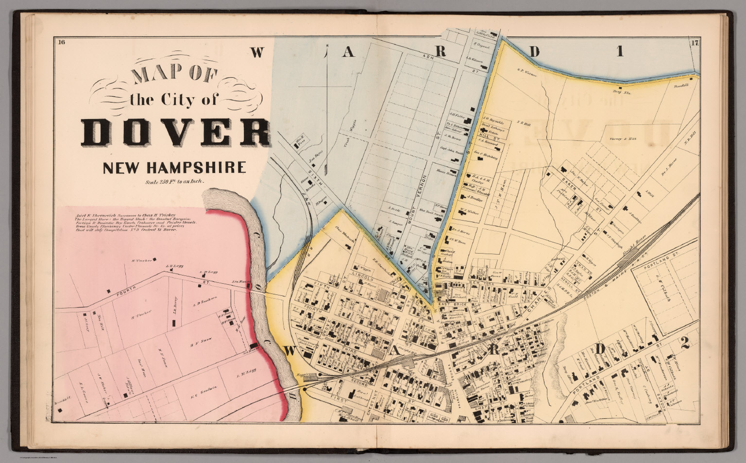 City Of Dover Northern Sheet Strafford County New Hampshire - New hampshire city map