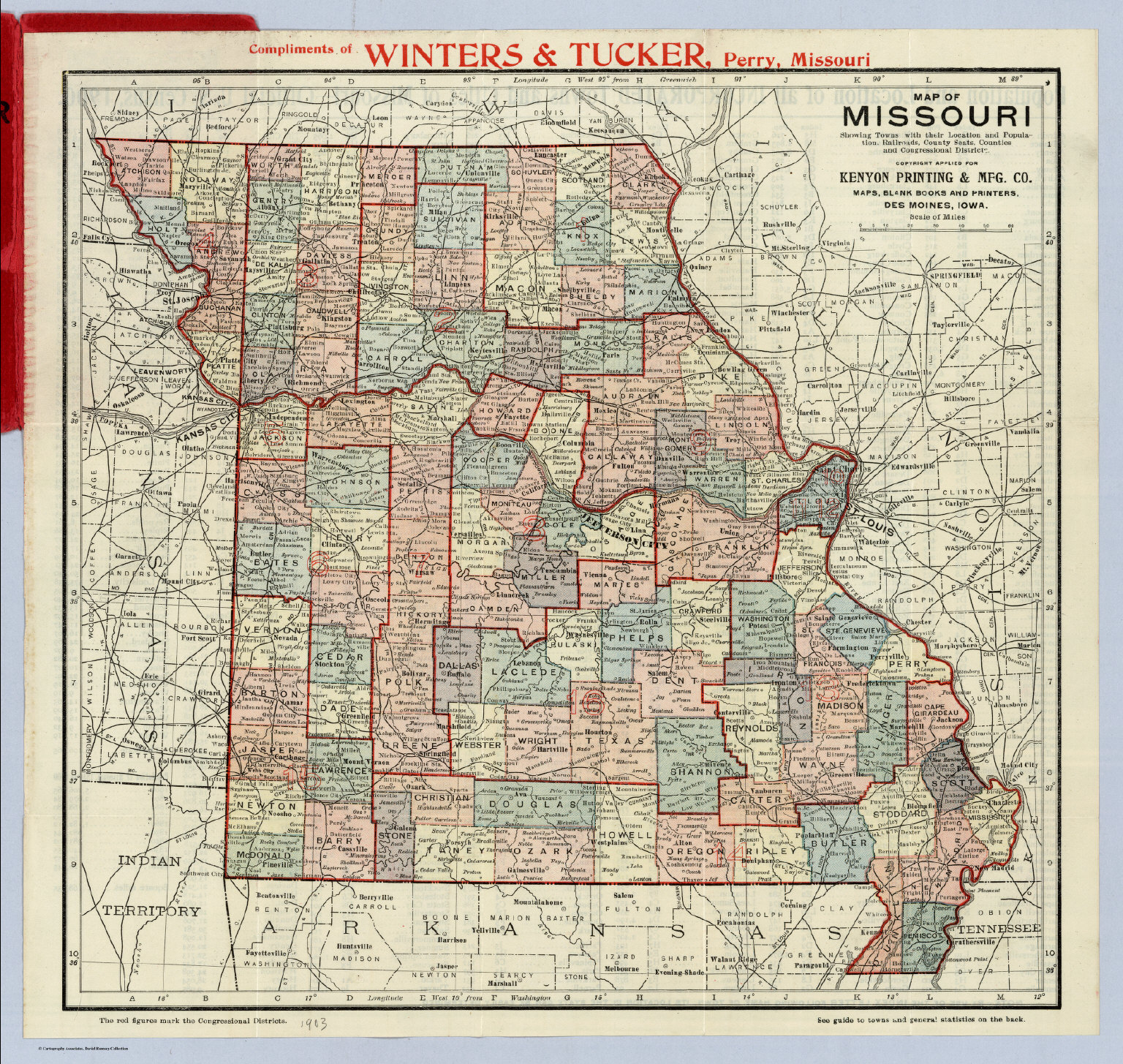Map Of Missouri David Rumsey Historical Map Collection - Map of missiouri