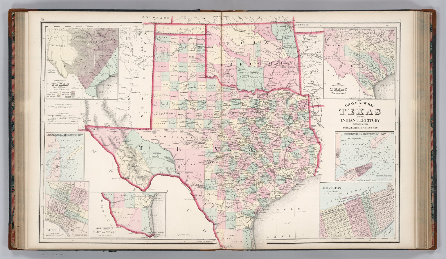 Texas Indian Territory Map