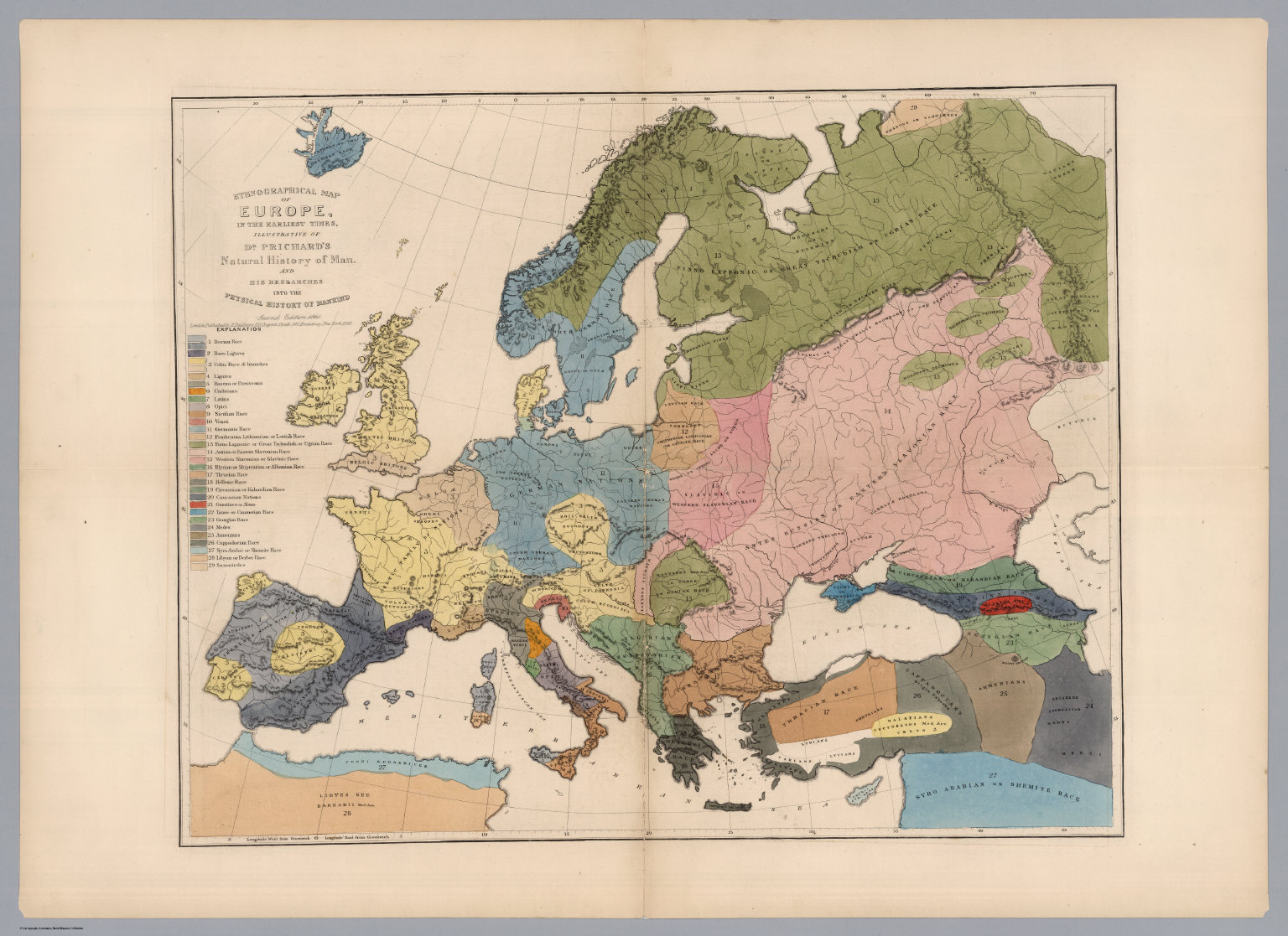 ethnographical map of europe in the earliest times david