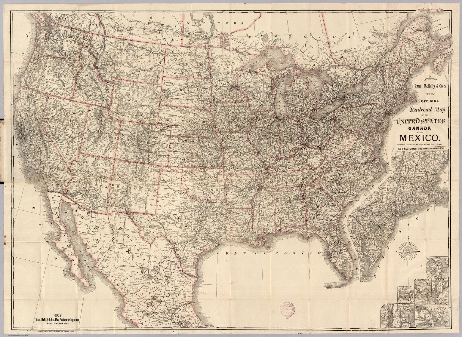 Railroad Map Of The United States David Rumsey Historical Map - 1889 us railroad map